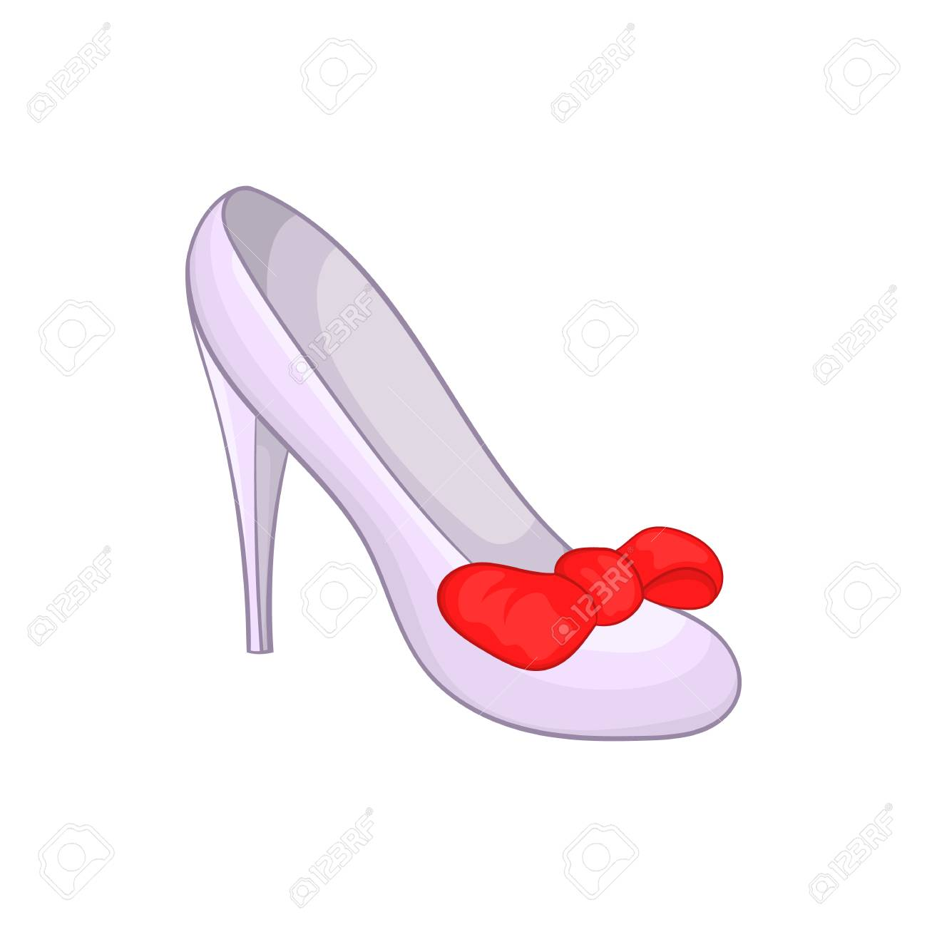 Women Shoe Icon In Cartoon Style Isolated On White Background
