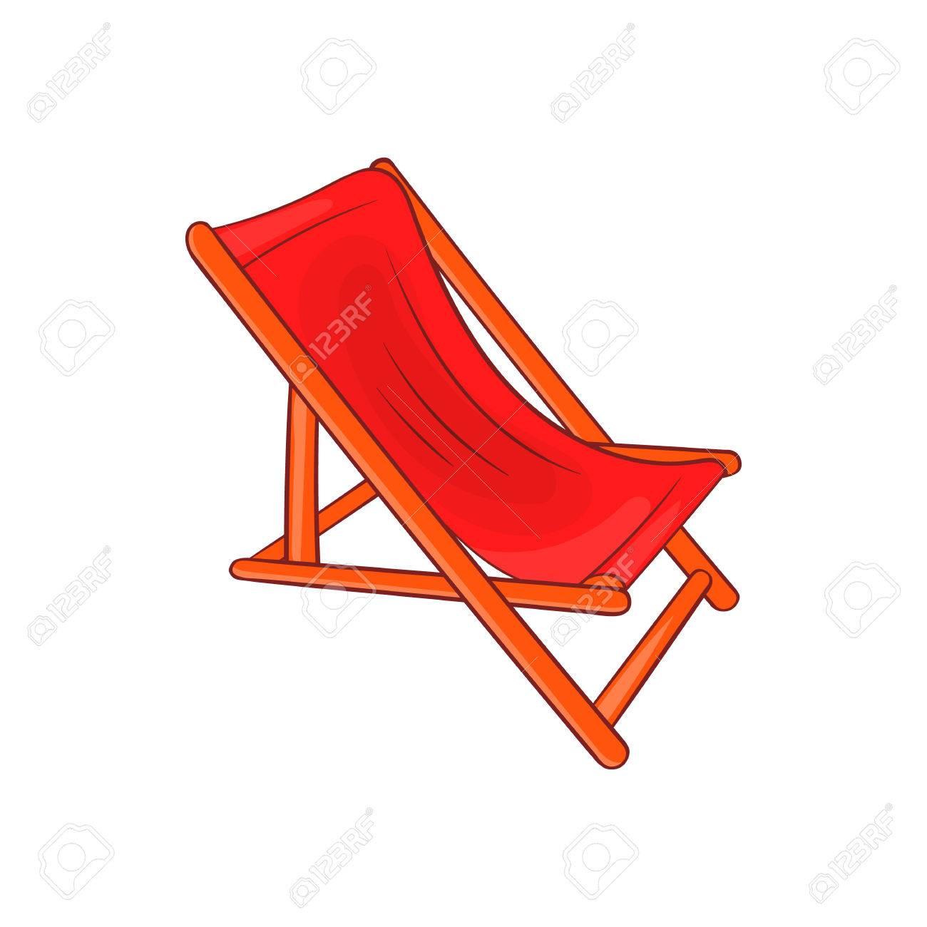 Icône Longue Style Détente En BlancSymbole De Chaise Cartoon Sur Isolé Fond wN0OX8nkZP