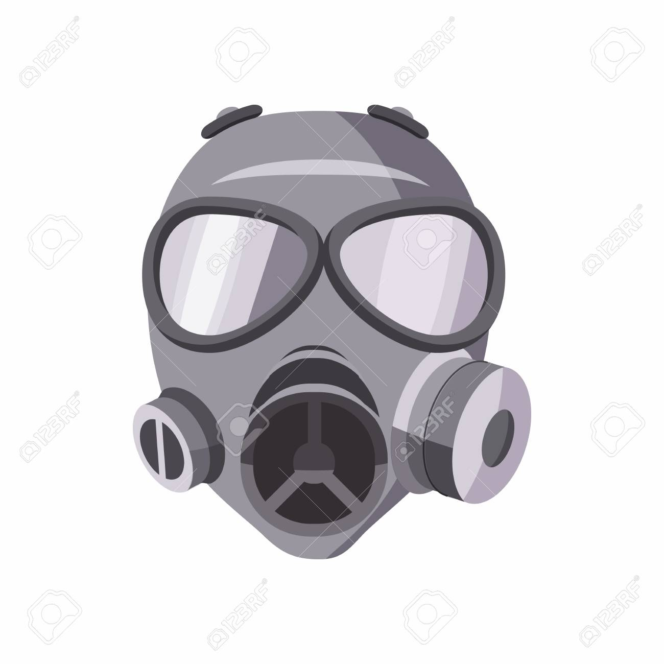 gas mask icon in cartoon style isolated on white background rh 123rf com gas mask cartoon girl gas mask cartoon girl