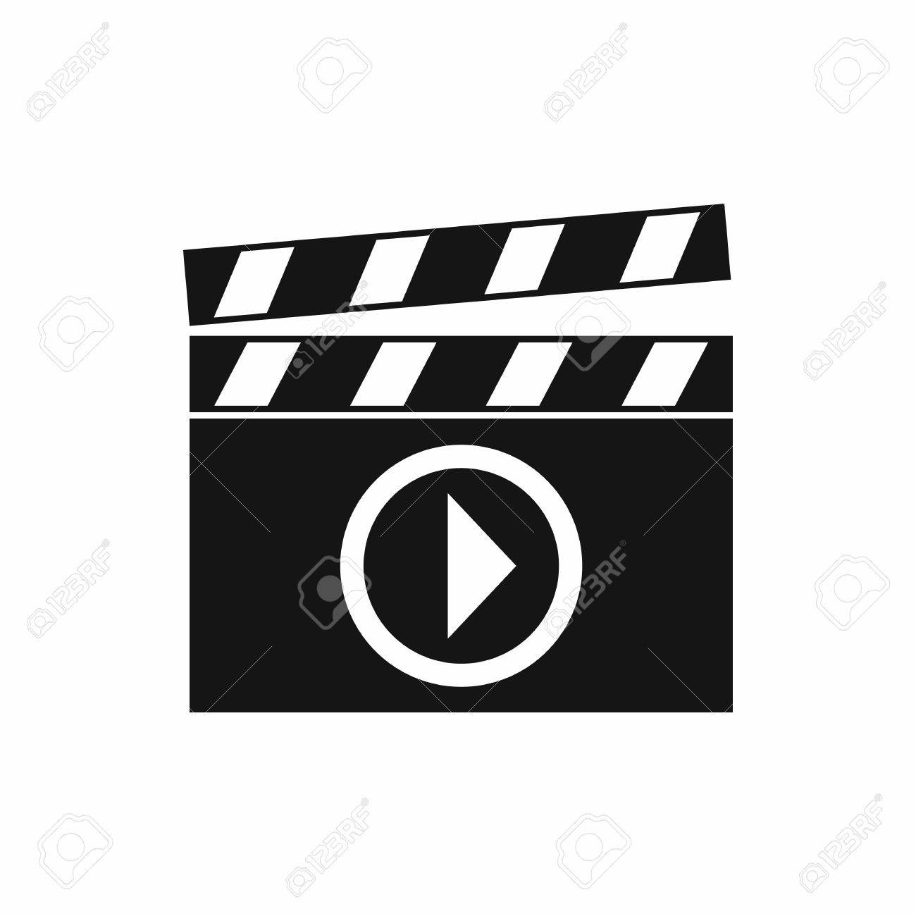 Clapperboard for movie shooting icon in simple style isolated clapperboard for movie shooting icon in simple style isolated on white background film symbol stock biocorpaavc