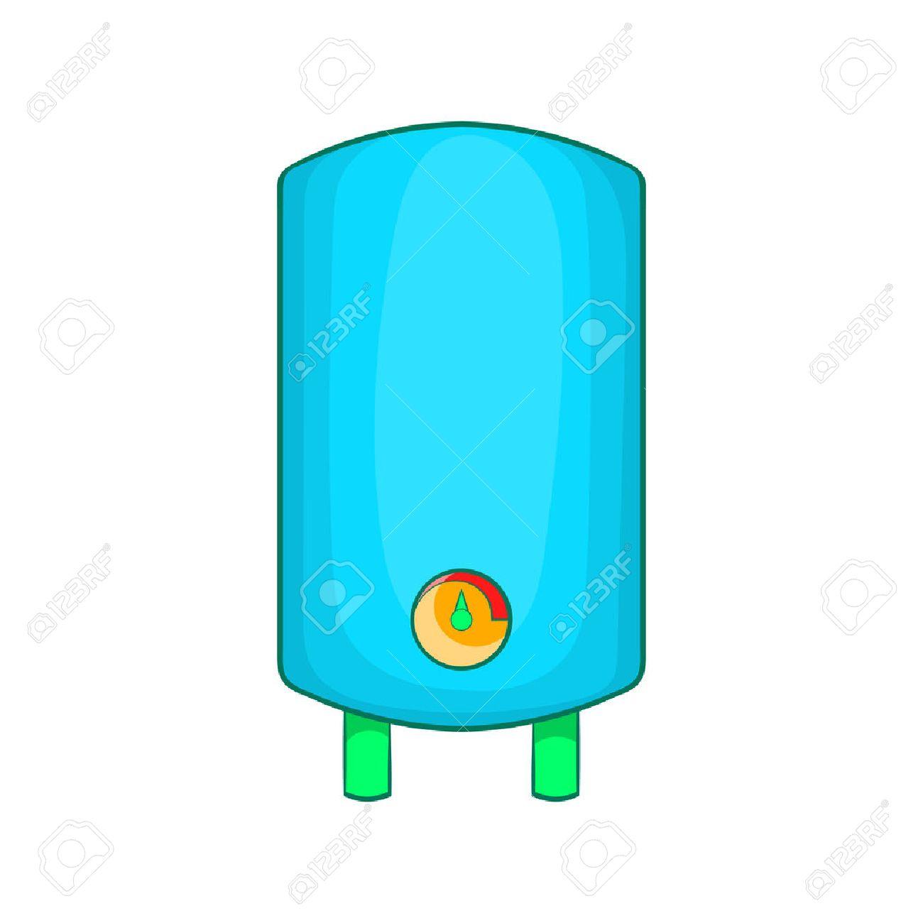 Boiler, Wasserkocher Symbol Im Cartoon-Stil Auf Einem Weißen ...