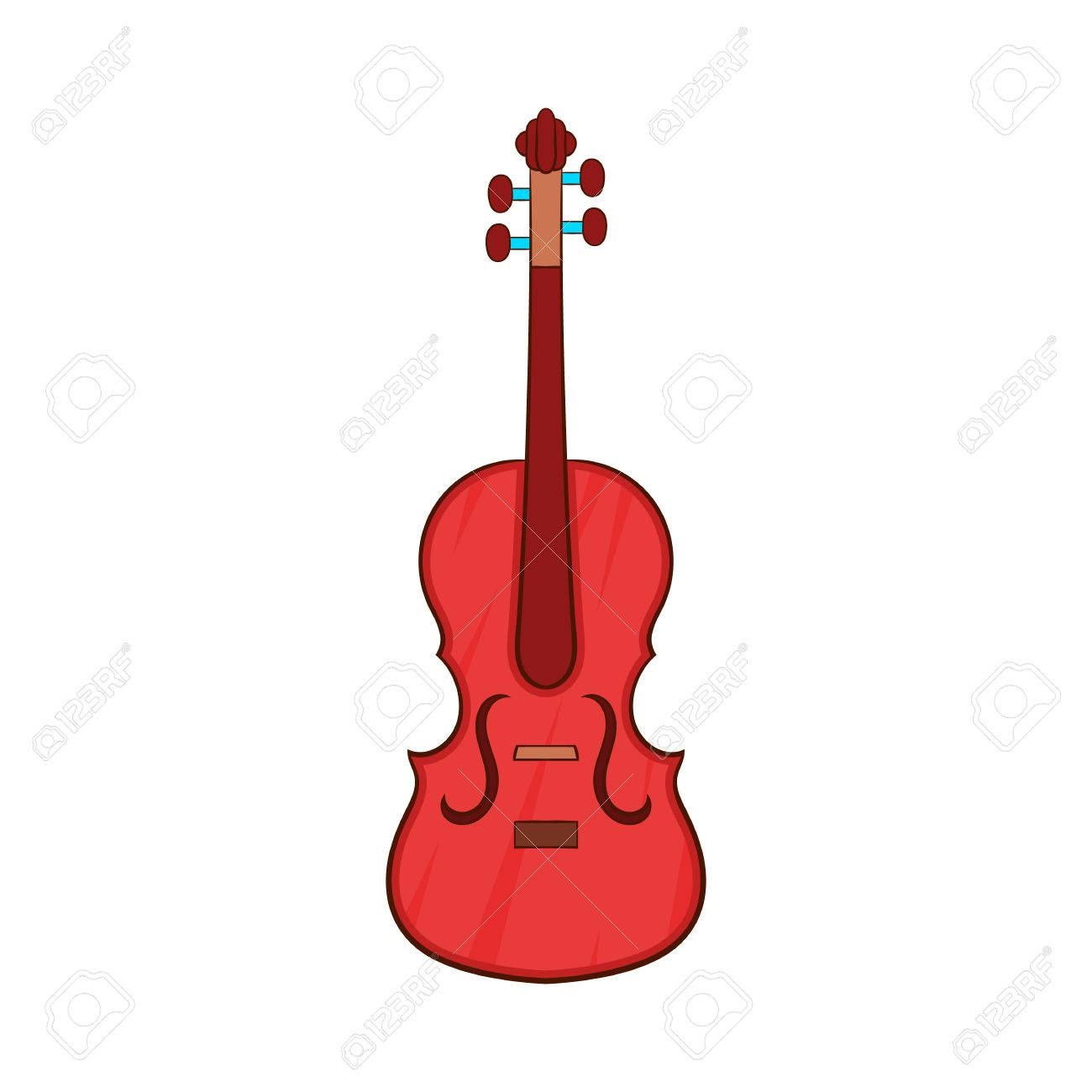 Cello Icon In Cartoon Style Isolated On White Background Musical