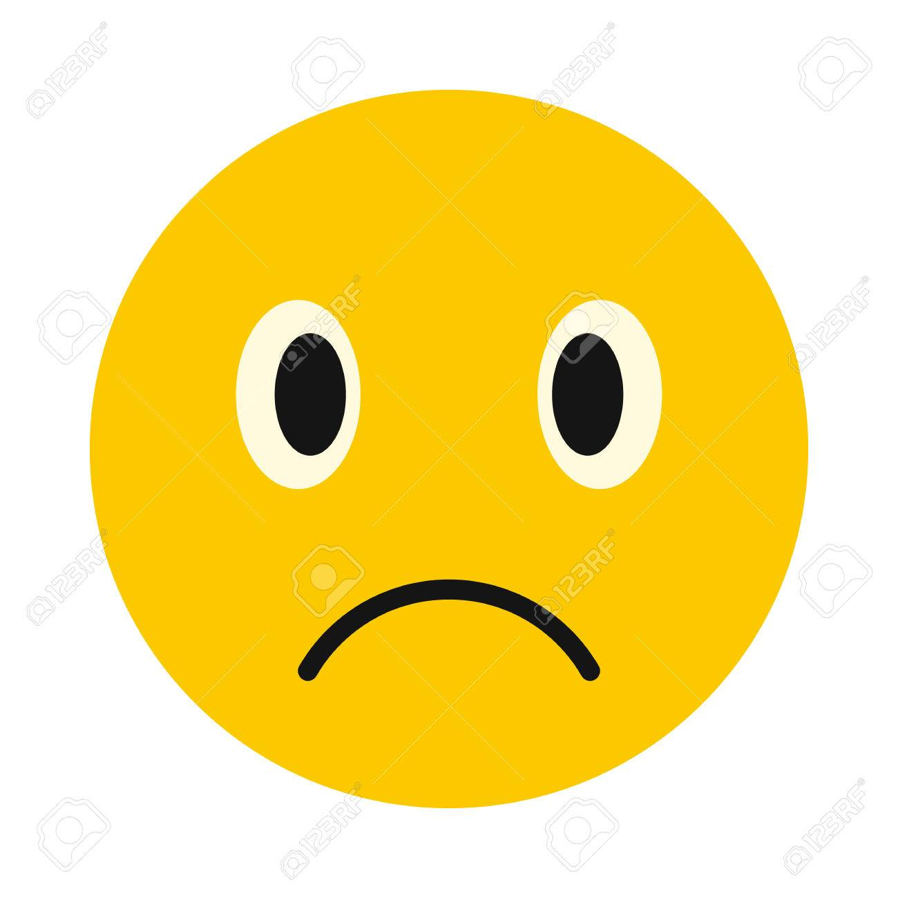 sad face icon in flat style isolated on white background facial rh 123rf com cartoon sad face drawing cartoon sad face crying