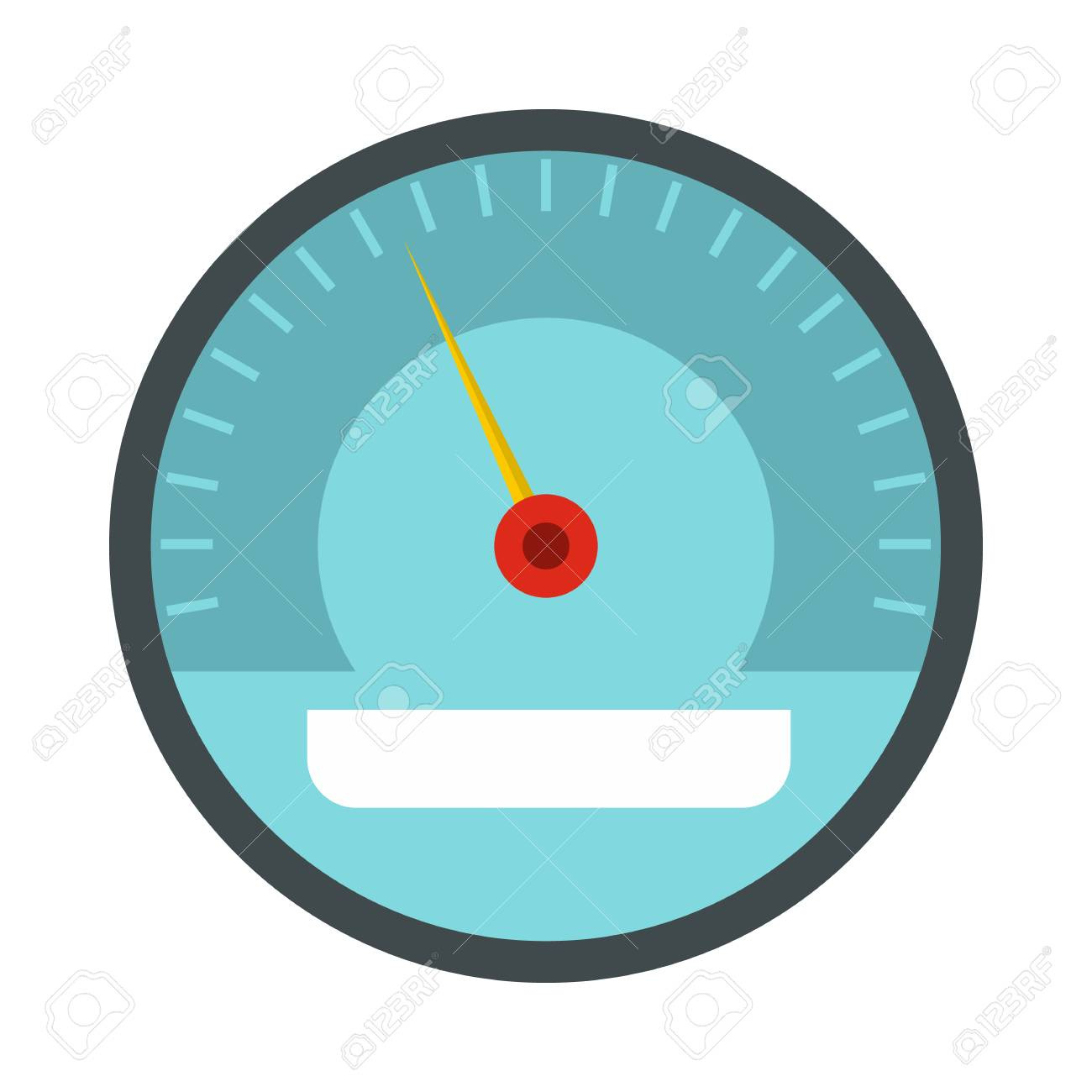 speedometer icon in flat style on a white background royalty free rh 123rf com speedometer vector free download car speedometer vector