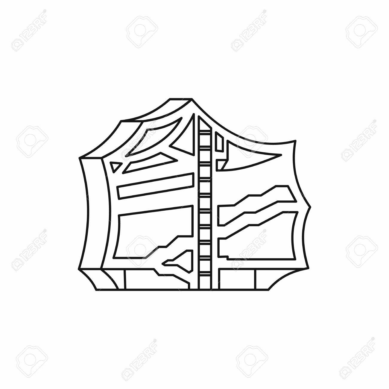 kimchi traditional korean food icon in outline style isolated Korean Market kimchi traditional korean food icon in outline style isolated on white background vector illustration stock