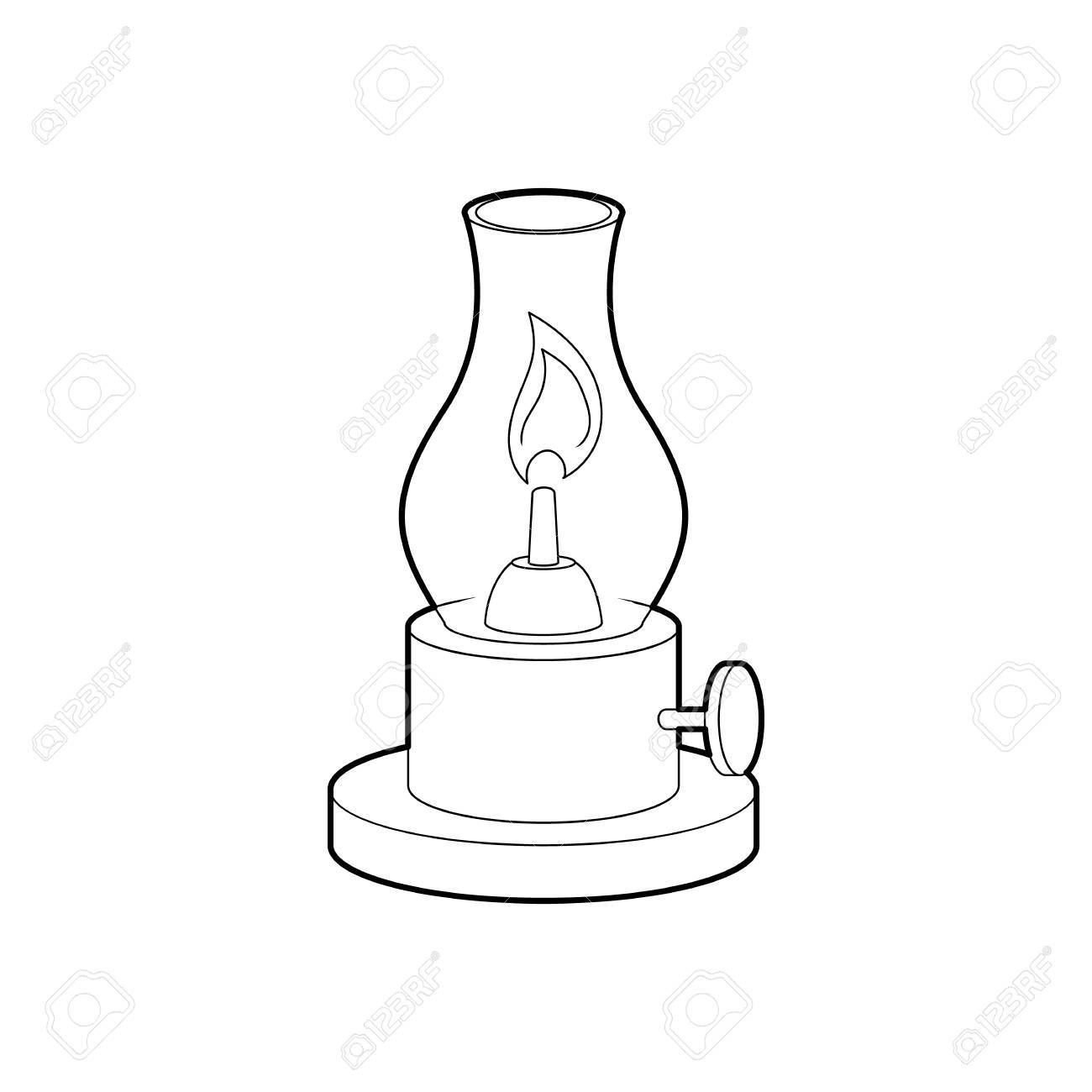 Gas Lamp Diagram Trusted Wiring A Icon In Outline Style Isolated On White Background