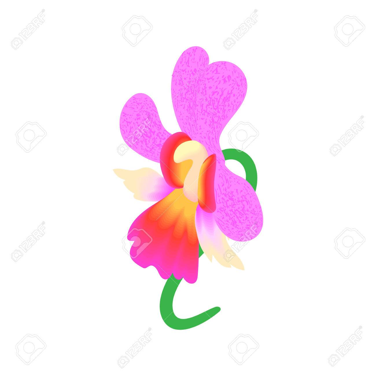 Pink orchid icon in cartoon style isolated on white background pink orchid icon in cartoon style isolated on white background flower symbol stock vector mightylinksfo