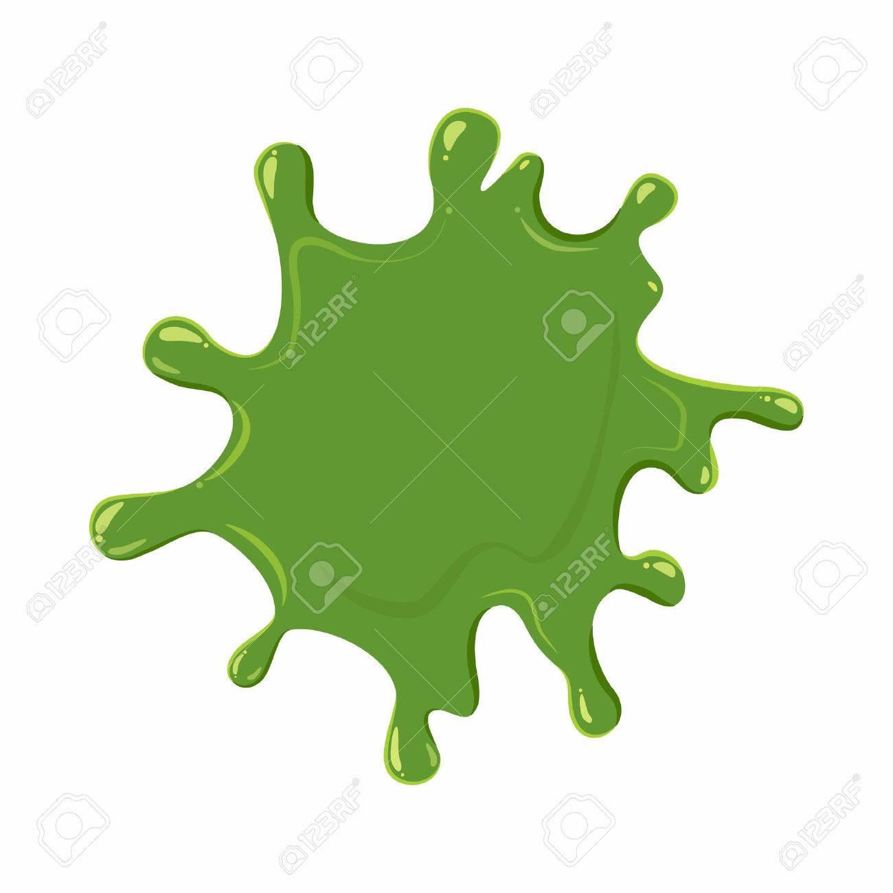Slime blot isolated on white background. Green slime blot vector illustration - 61448586
