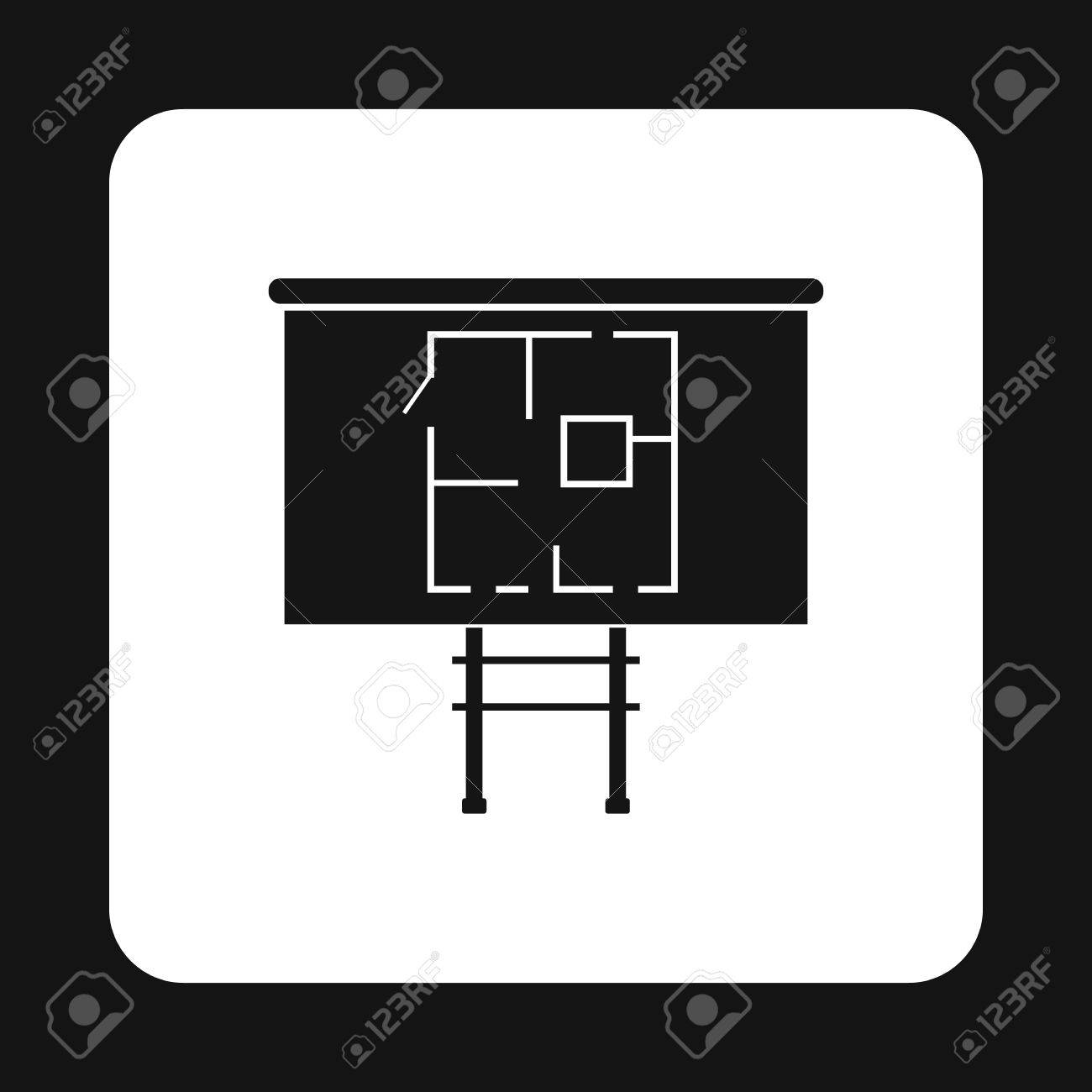 Simple table free other icons - Table Project Of Home Icon In Simple Style Isolated On White Background Drawing Symbol Stock