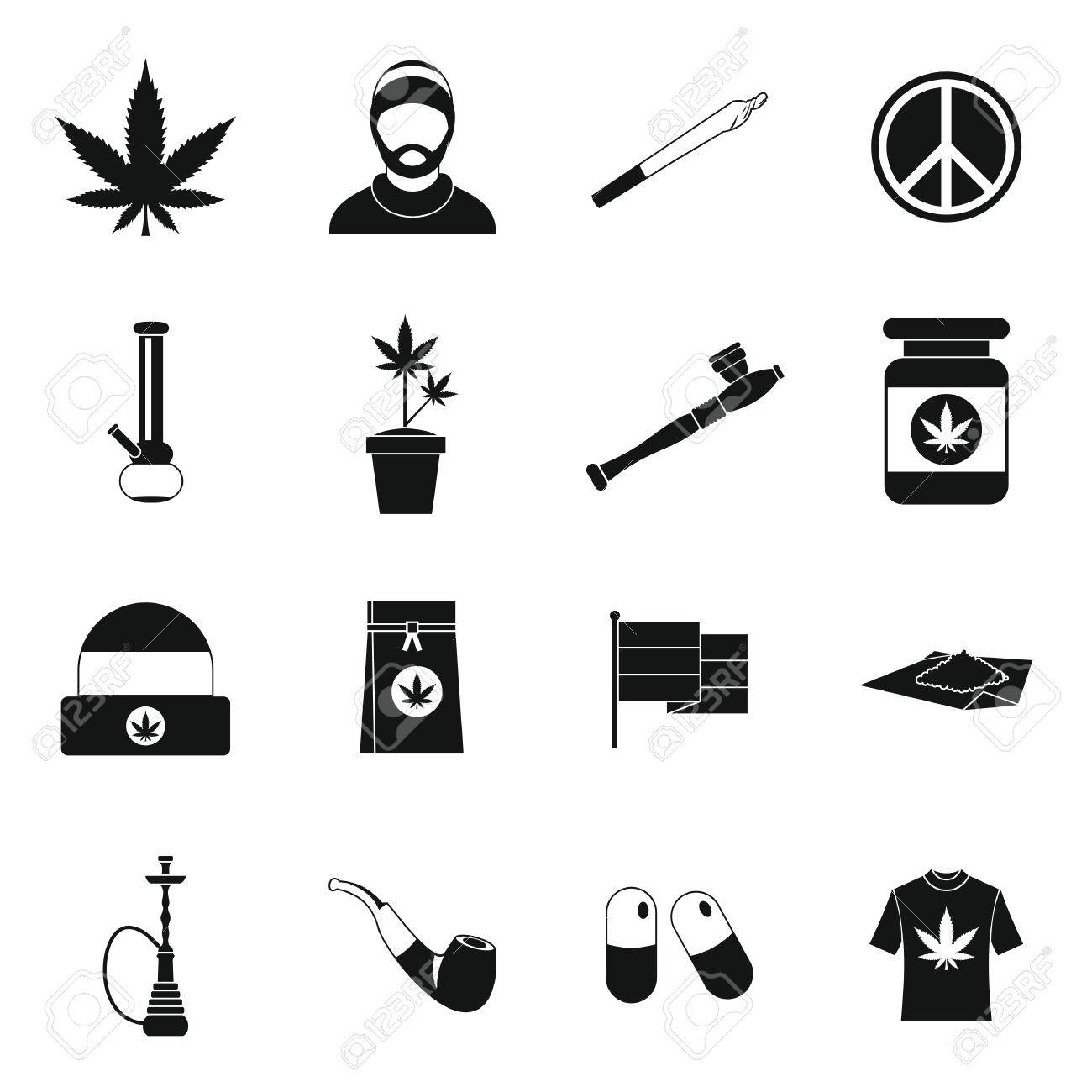 Rastafarian icons set in simple style marijuana equipment set rastafarian icons set in simple style marijuana equipment set collection vector illustration stock vector biocorpaavc Choice Image