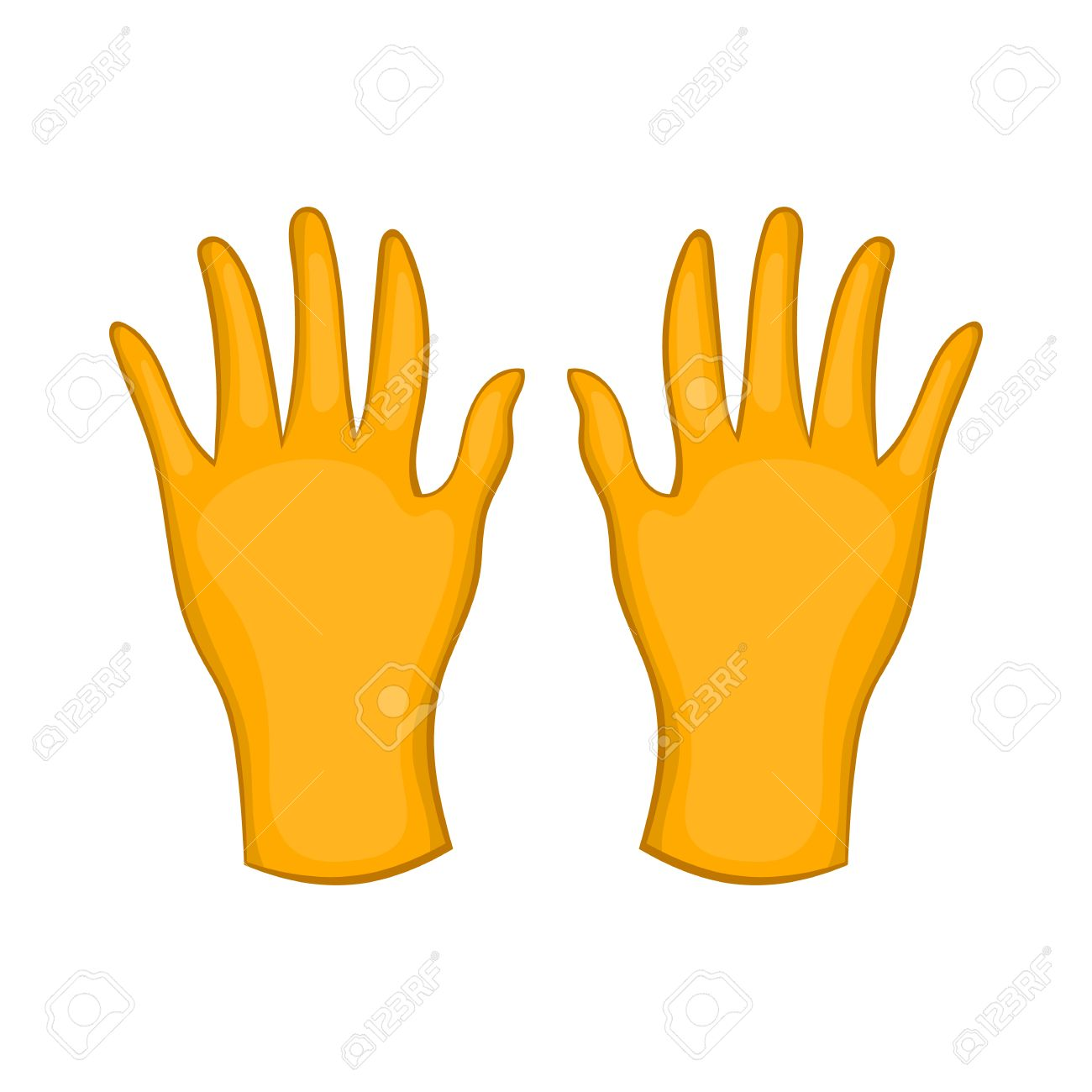 Rubber gloves icon in cartoon style isolated on white background rubber gloves icon in cartoon style isolated on white background hand protection symbol stock vector biocorpaavc