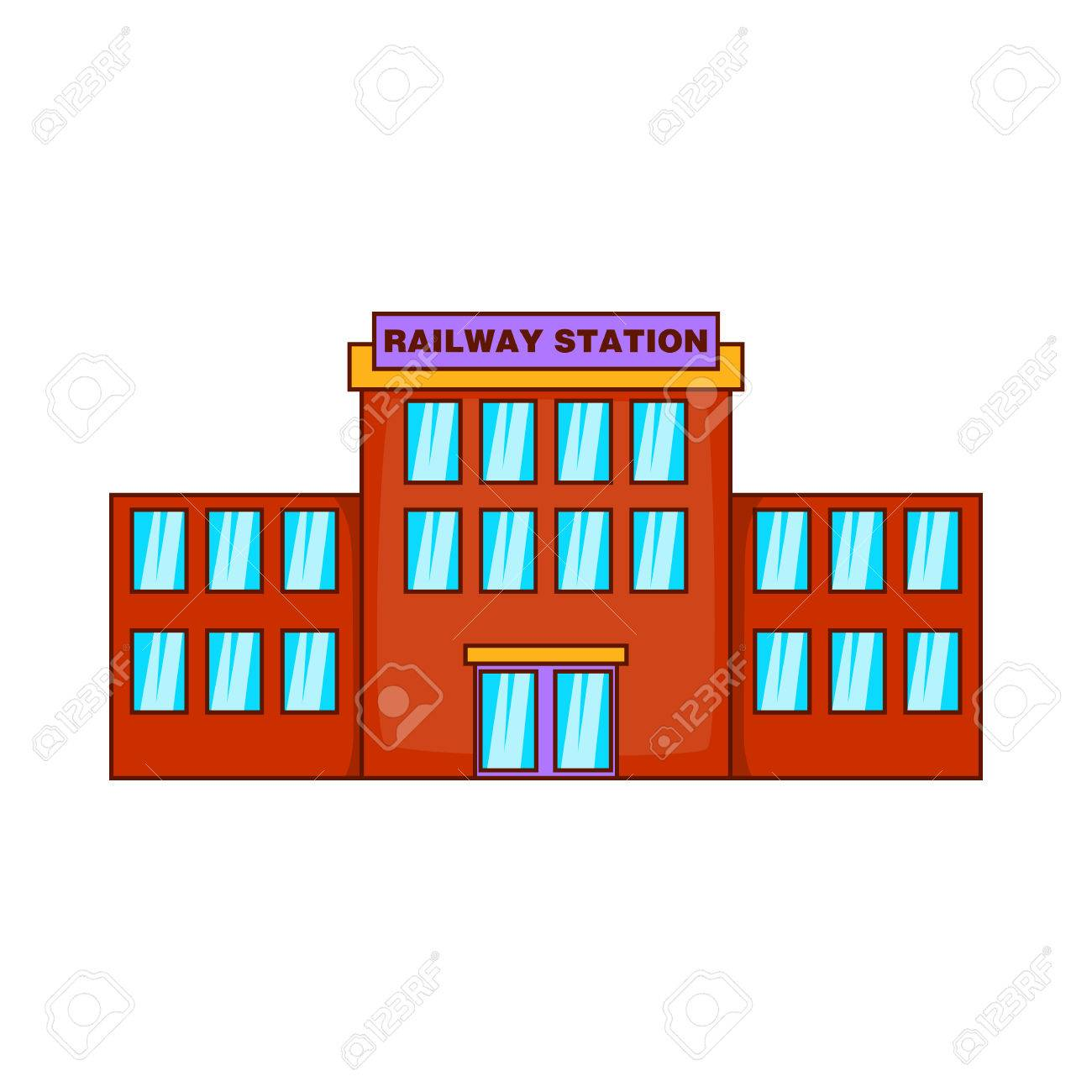 Railway station icon in cartoon style isolated on white background railway station icon in cartoon style isolated on white background building symbol stock vector biocorpaavc Images