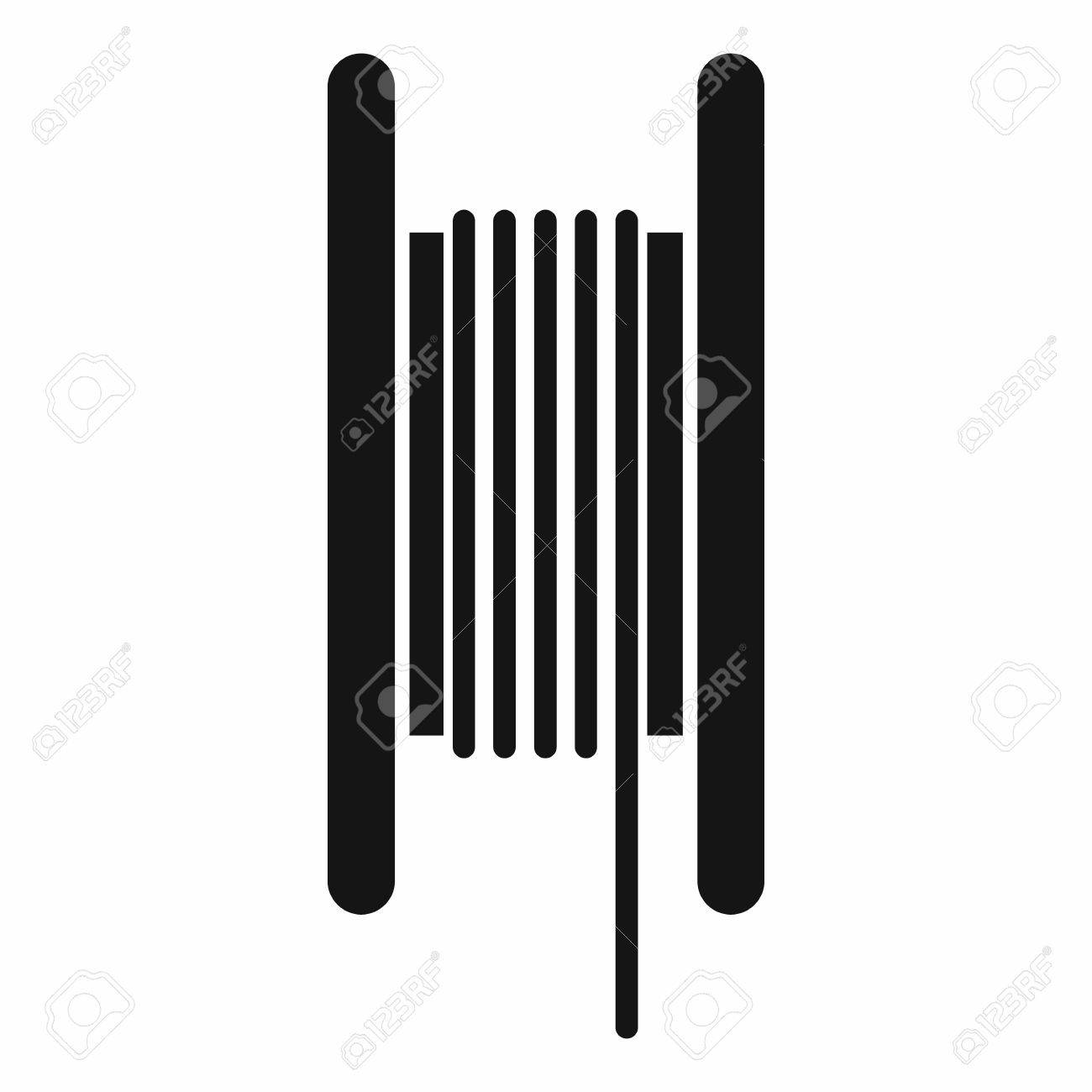 Electric cable in coil icon in simple style isolated on white..