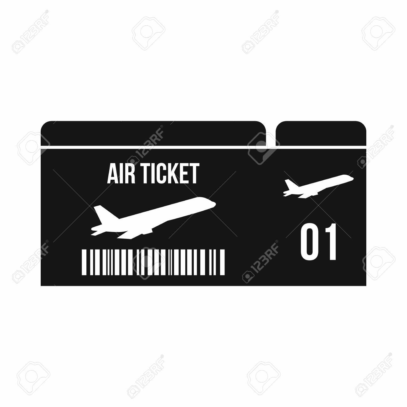 Airline Boarding Pass Icon In Simple Style Isolated On White