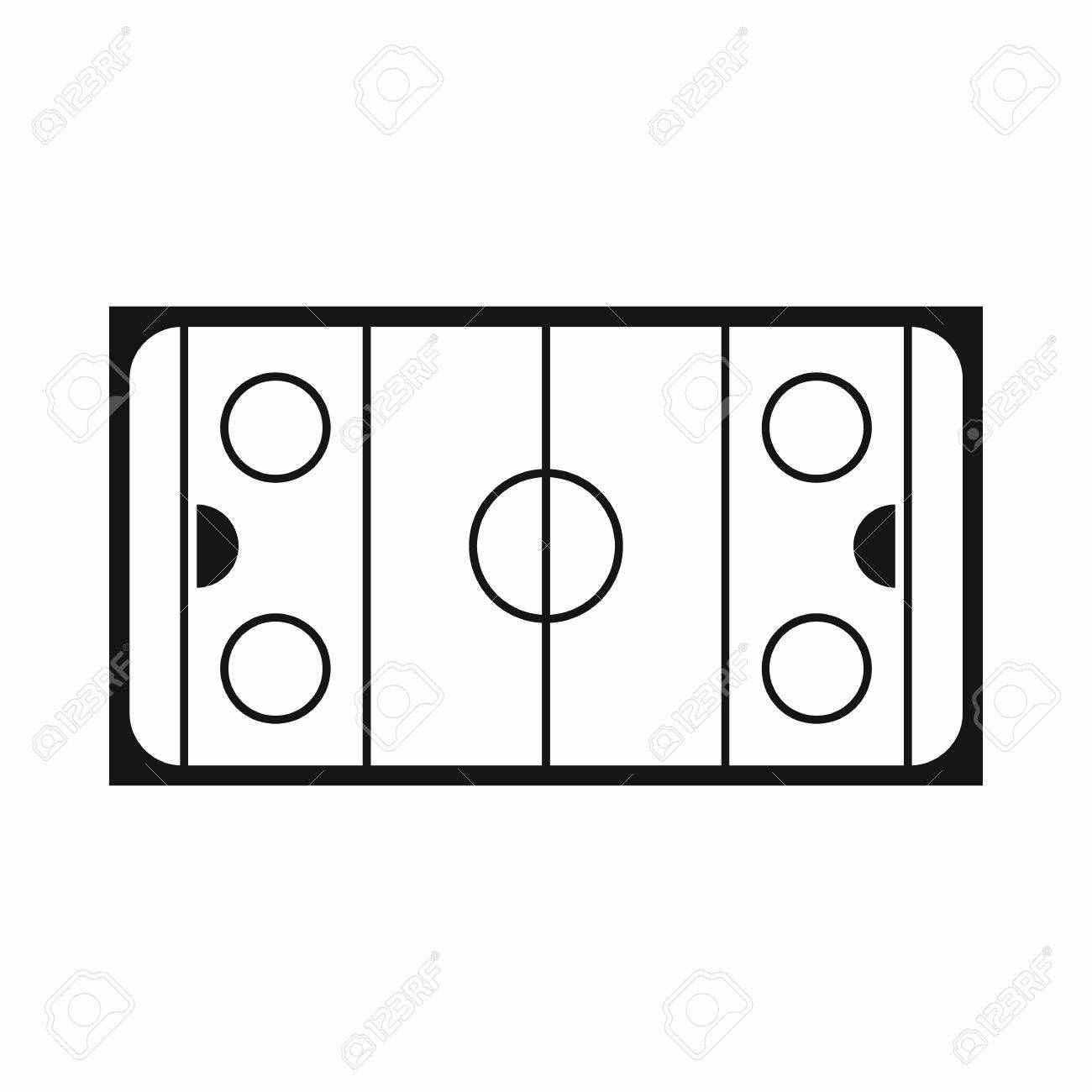 ice hockey rink icon in simple style on a white background vector rh 123rf com skating rink clipart black and white