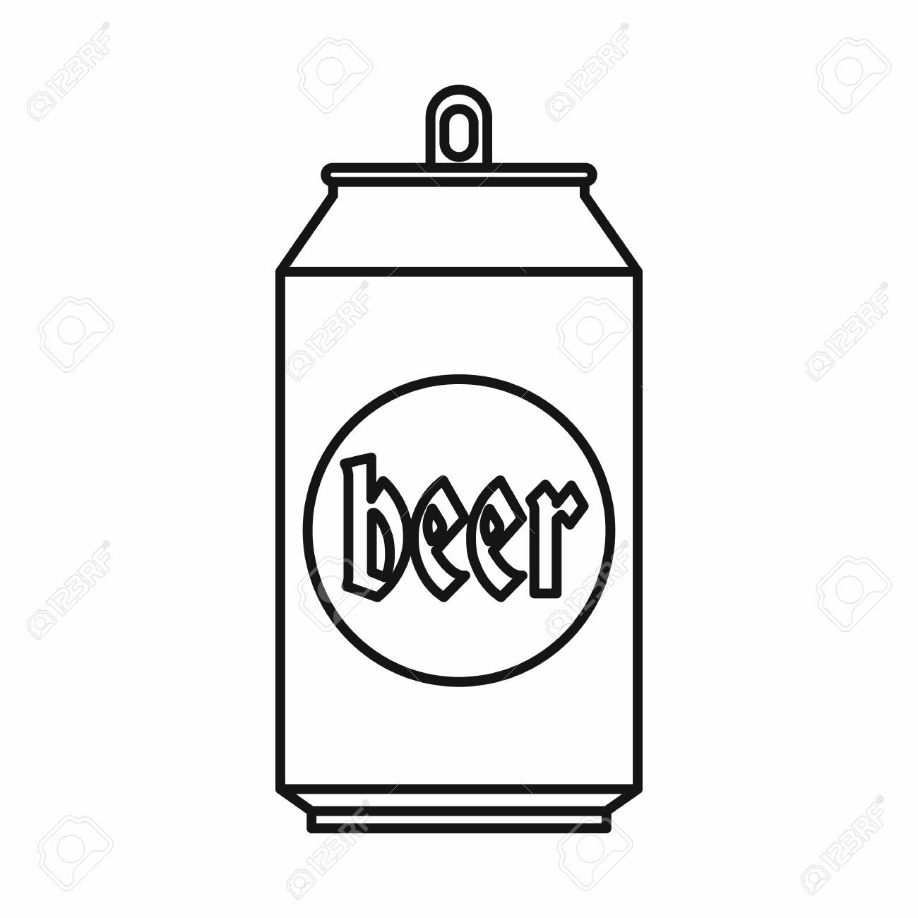 beer can 500 in outline style isolated on white background vector rh 123rf com beer can vector free beer can vector art