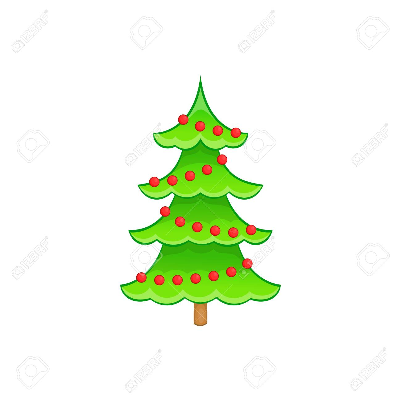 Christmas Tree In Cartoon Style Isolated On White Background Royalty Free Cliparts Vectors And Stock Illustration Image 62360196 Free coreldraw vectors (.cdr) files of christmas. christmas tree in cartoon style isolated on white background