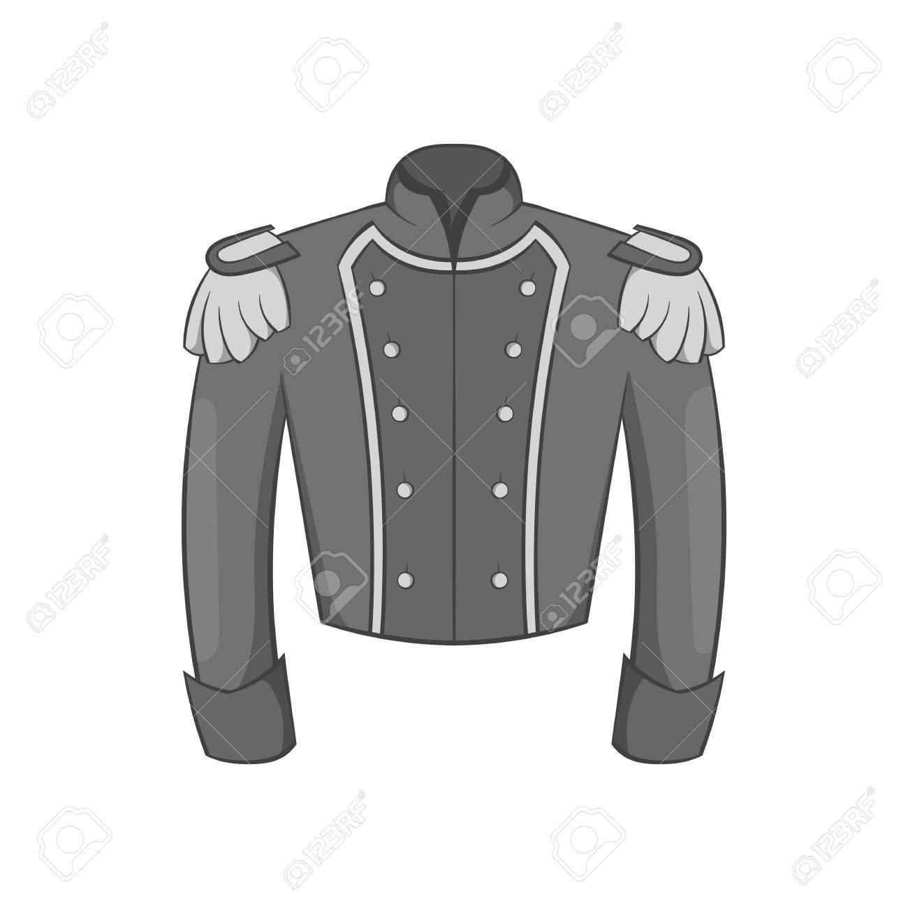 Wonderbaarlijk Militaire Jas Van Wachters Pictogram In Zwarte Zwart-wit Stijl LF-45