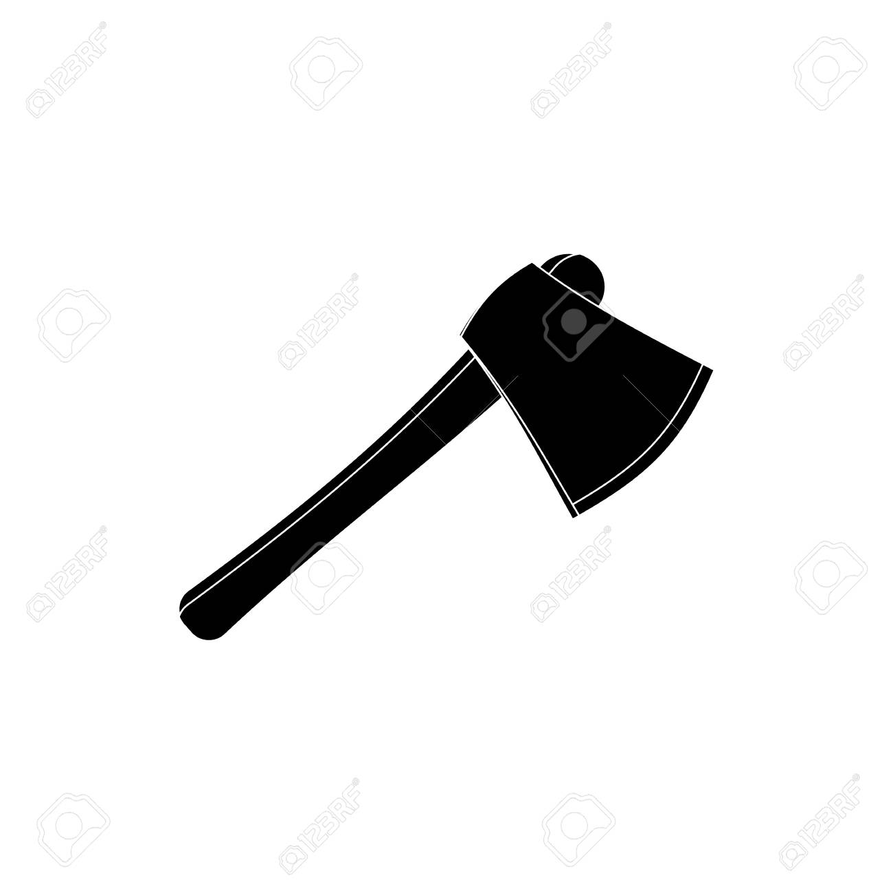 Axe icon in simple style isolated on white background tool symbol axe icon in simple style isolated on white background tool symbol vector illustration stock vector buycottarizona Choice Image