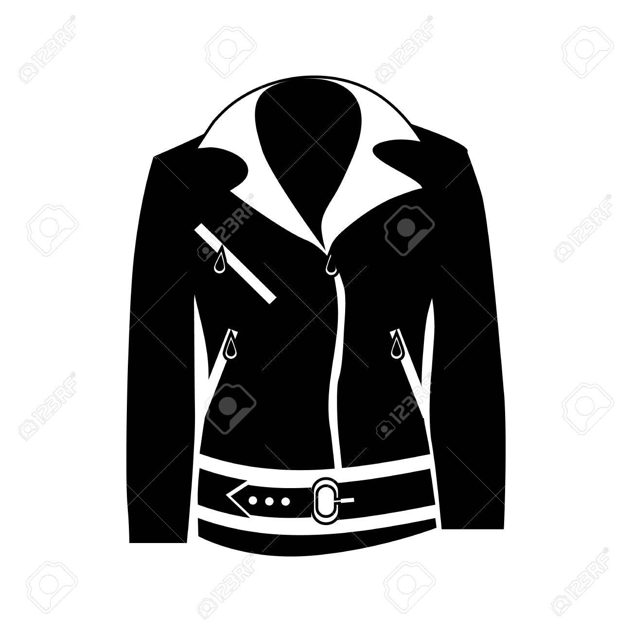 a5a80a937b31 Womens jacket icon in simple style isolated on white background. Clothing  symbol vector illustration Stock