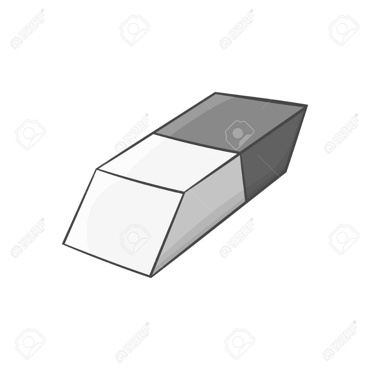 eraser icon in black monochrome style isolated on white background