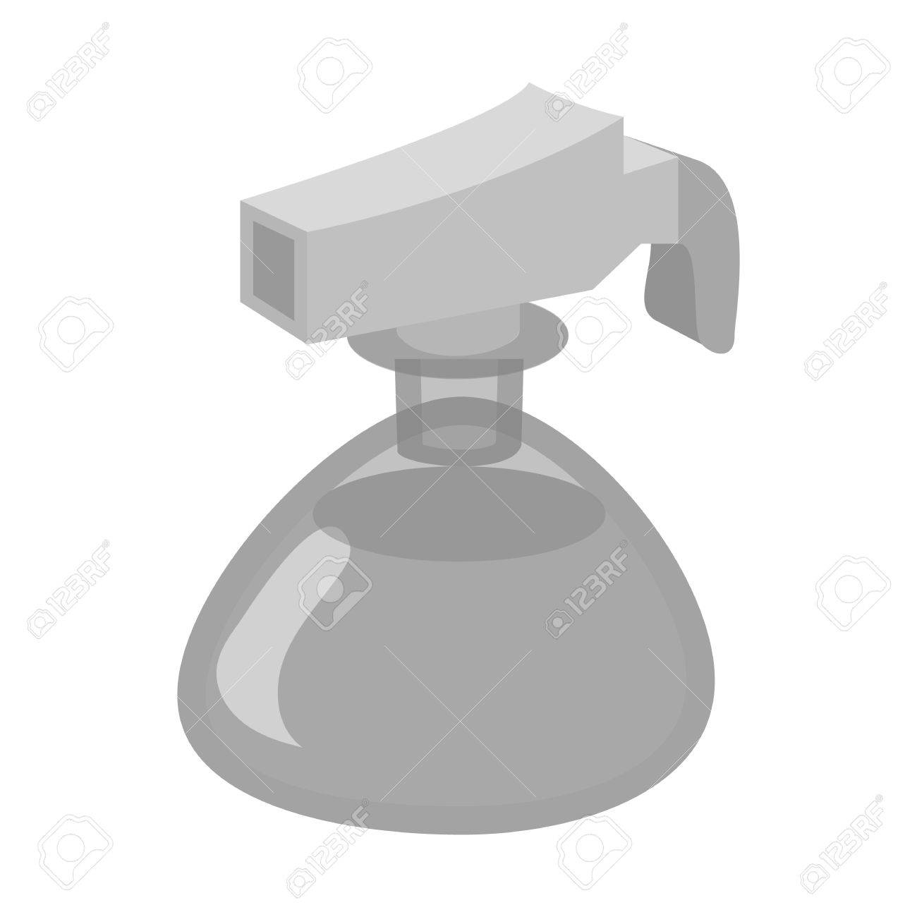 Small spray bottle icon in black monochrome style isolated on small spray bottle icon in black monochrome style isolated on white background tool for disinfection biocorpaavc