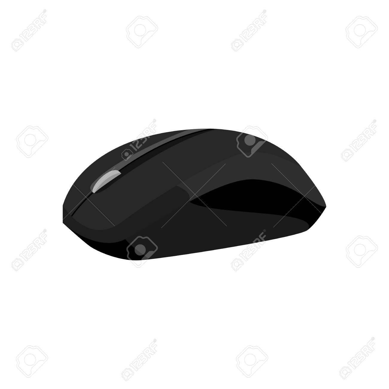 Wireless Mouse Icon In Black Monochrome Style Isolated On White ...
