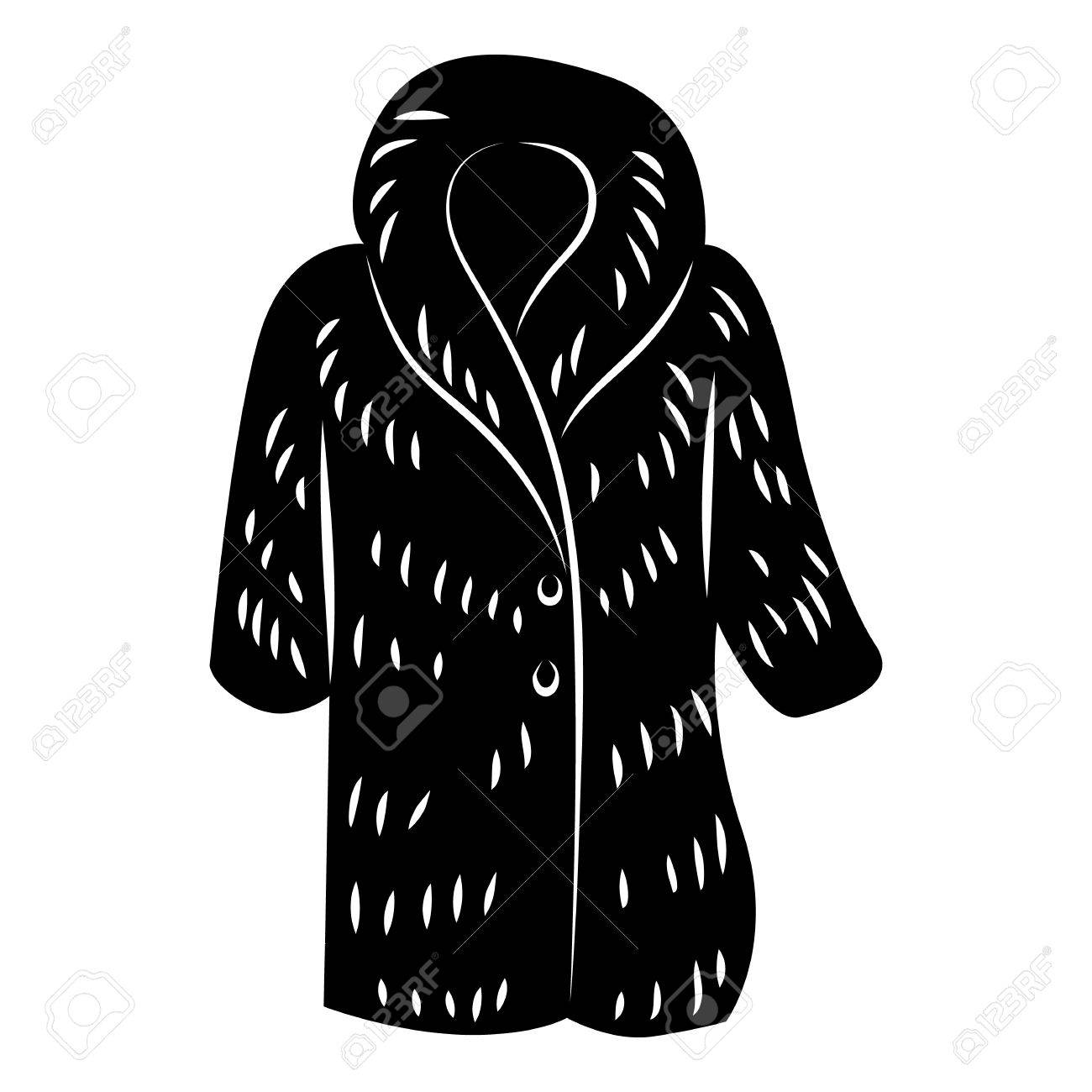bff0a697c76e Fur coat icon in simple style on a white background vector illustration  Stock Vector - 62978698
