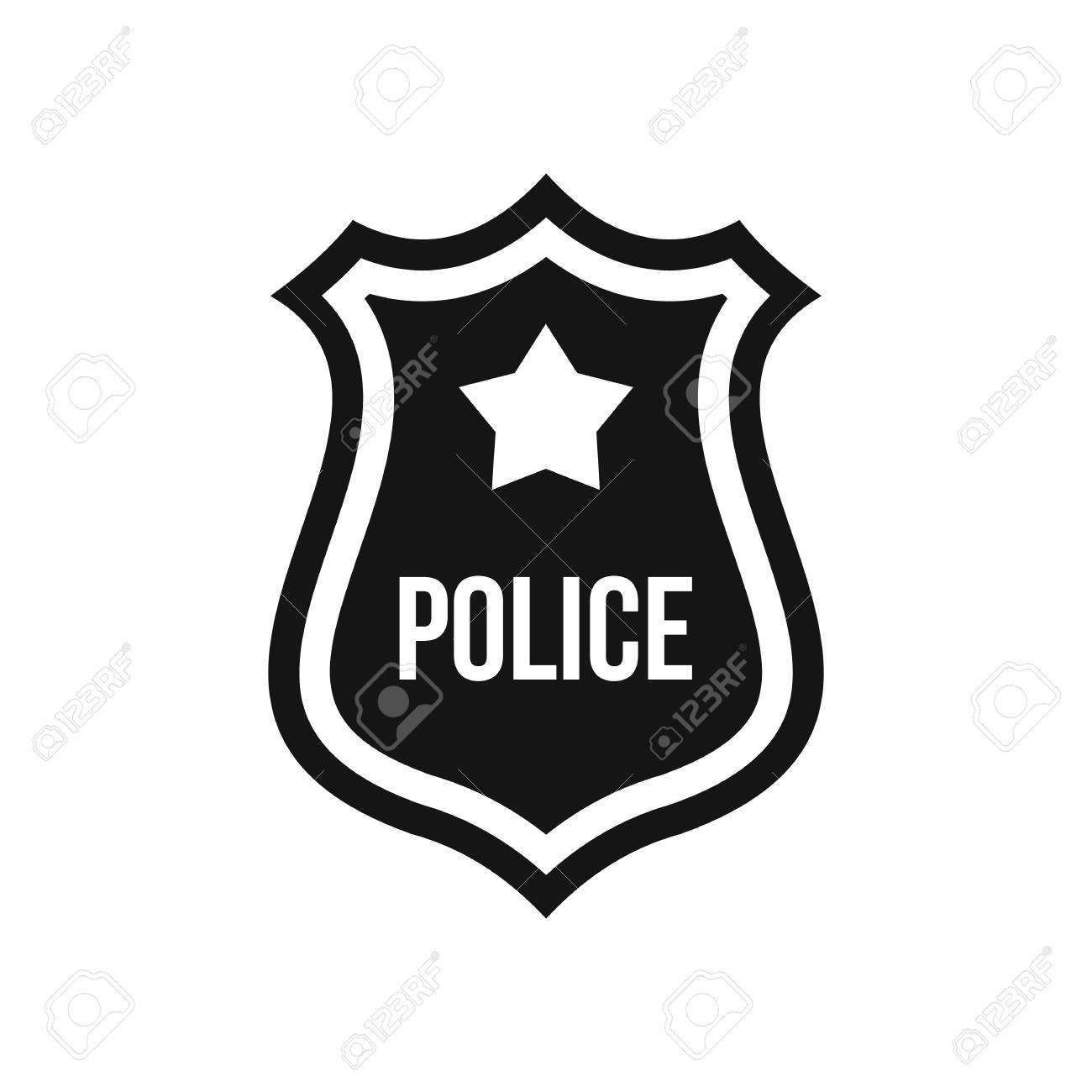 police badge icon in simple style on a white background vector rh 123rf com police badge vector illustration vector police badge free
