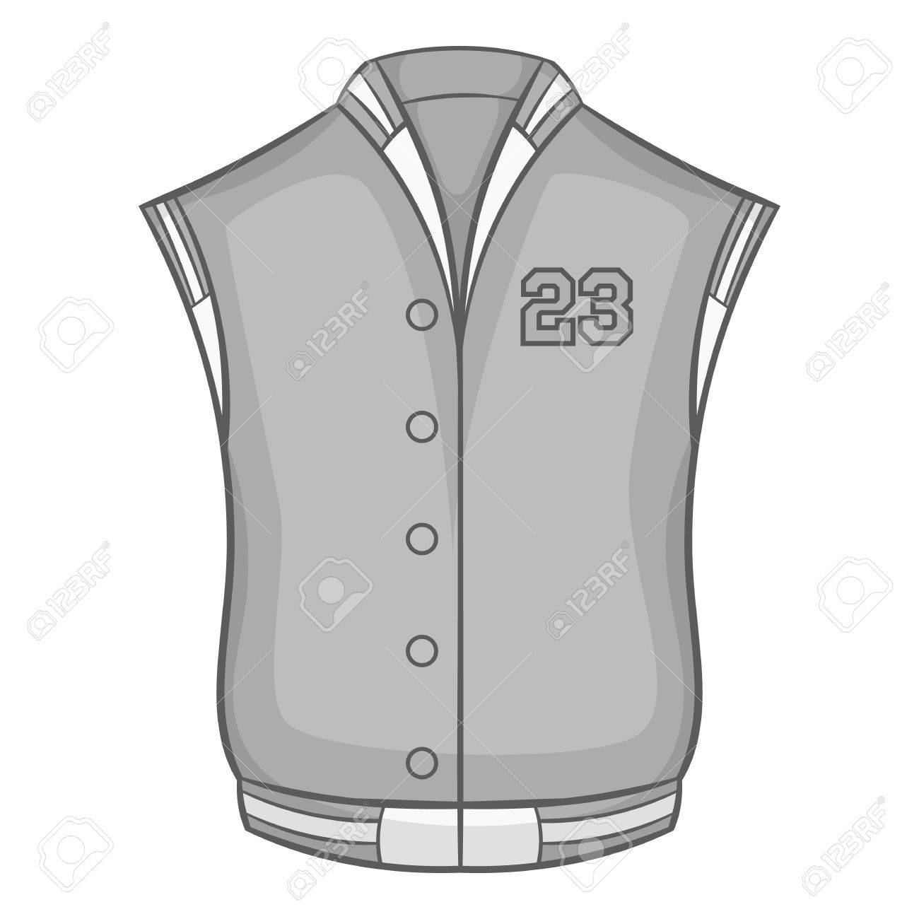 Sports vest icon in black monochrome style isolated on white background. Clothing symbol vector illustration - 62979111
