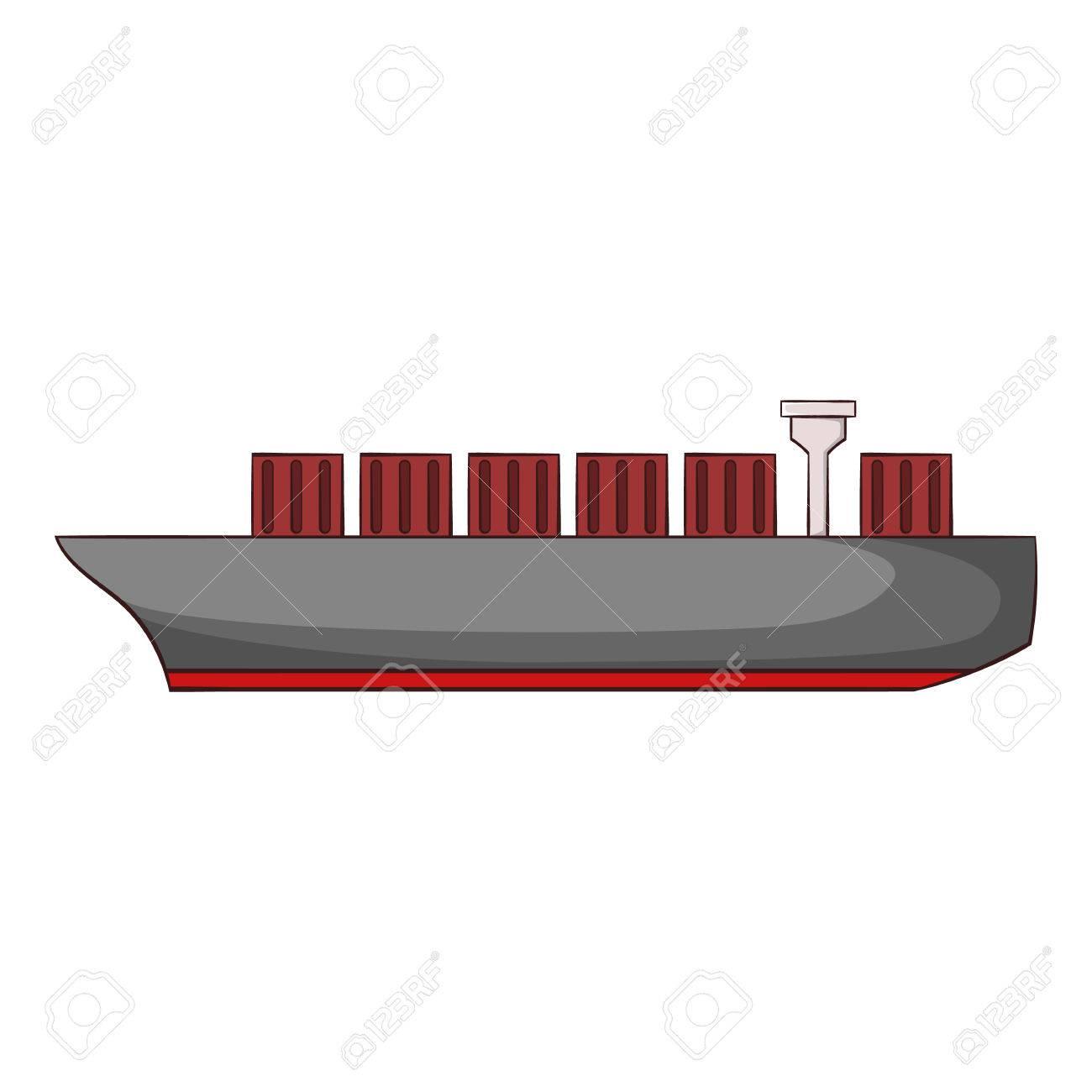 Cargo ship icon in cartoon style isolated on white background cargo ship icon in cartoon style isolated on white background maritime transport symbol vector illustration buycottarizona