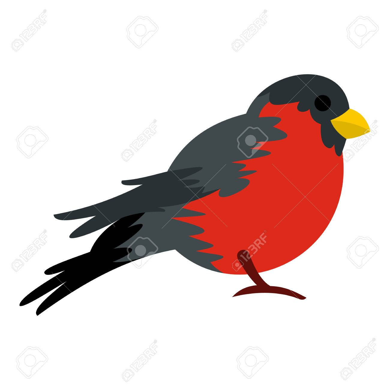 Bird with red plumage icon in flat style isolated on white bird with red plumage icon in flat style isolated on white background fly symbol vector buycottarizona Gallery