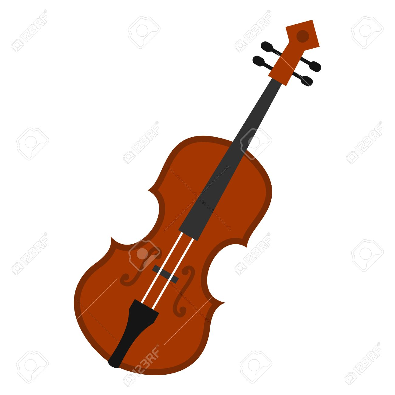 Cello Icon In Flat Style Isolated On White Background Musical