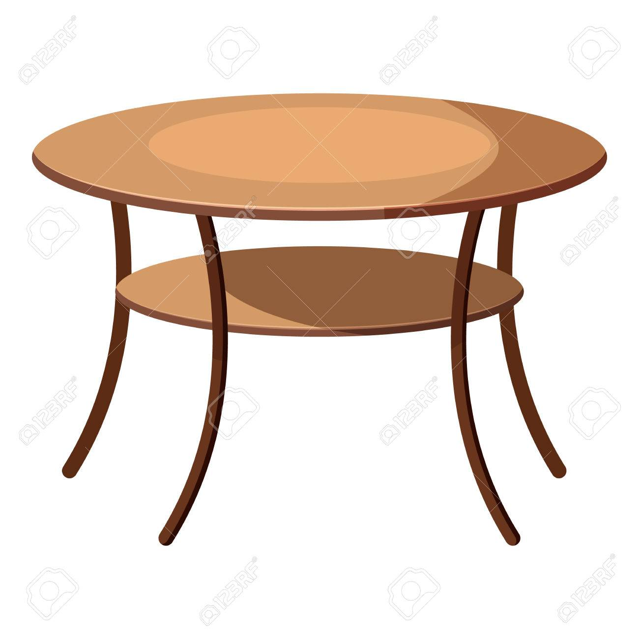 Runder Tisch Symbol In Cartoon Stil Auf Weißem Hintergrund Möbel