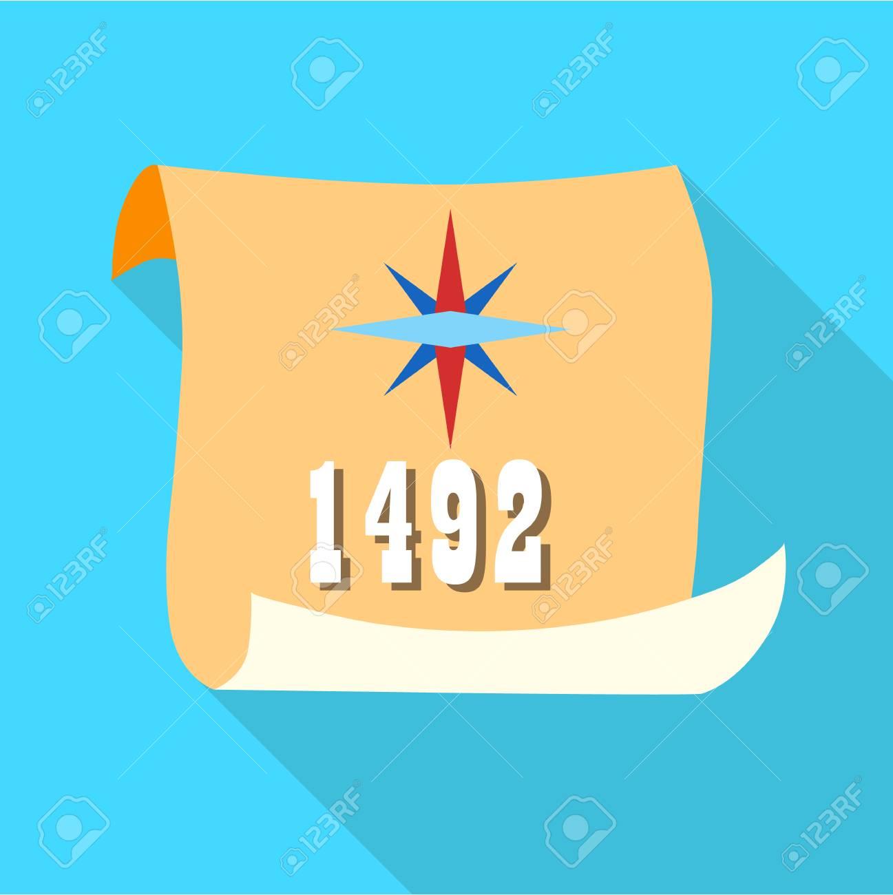 日 1492 コロンブス記念日長い影...