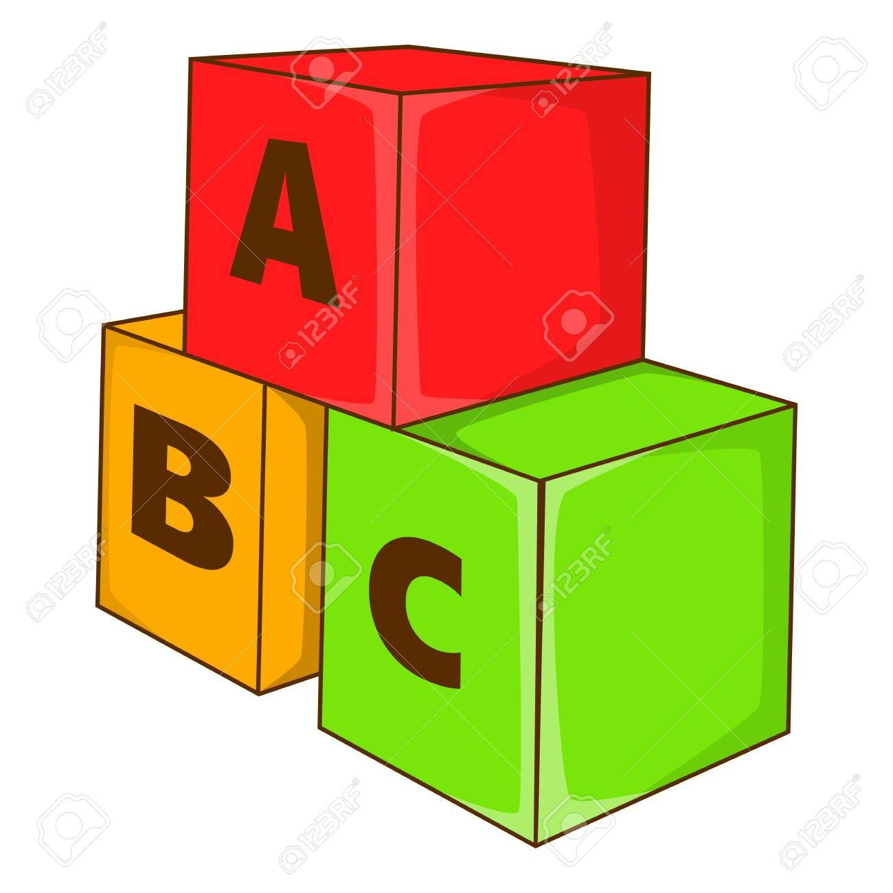 Pyramide De Dessin Animé De Cubes Colorés Cubes De Jouet Pour Les Enfants Illustration Vectorielle Coloré Pour Les Enfants Vecteurs libres de droits