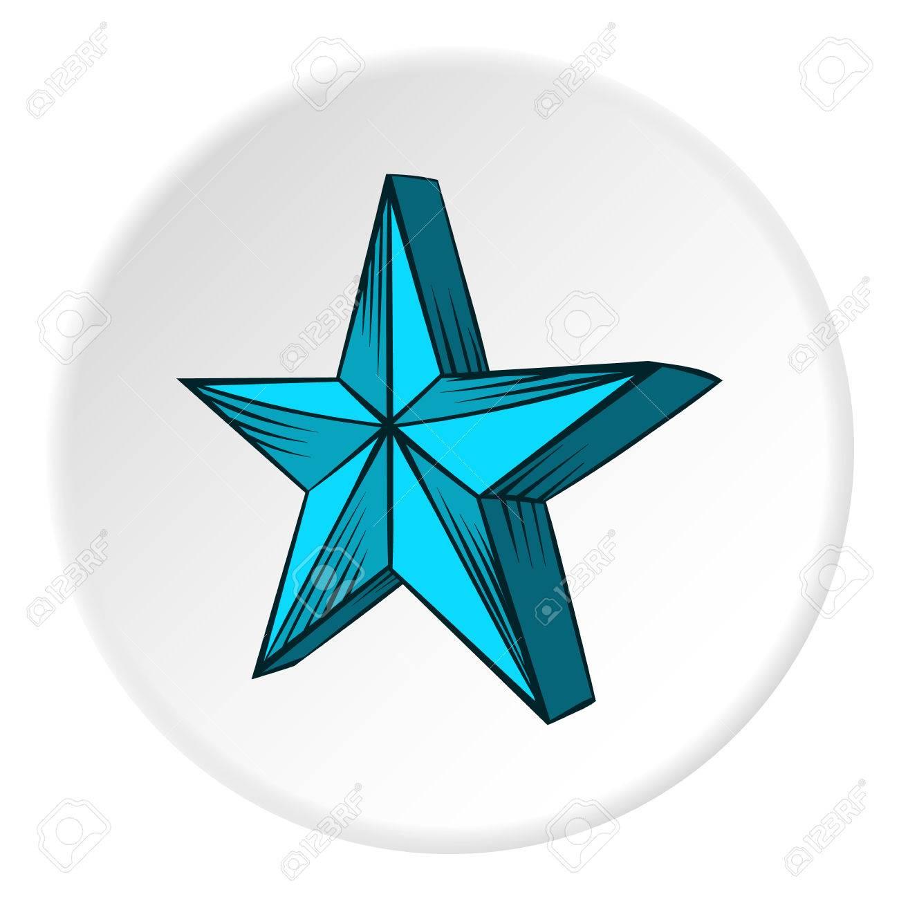 Icono De Gran Estrella En Estilo De Dibujos Animados En El Fondo Del ...