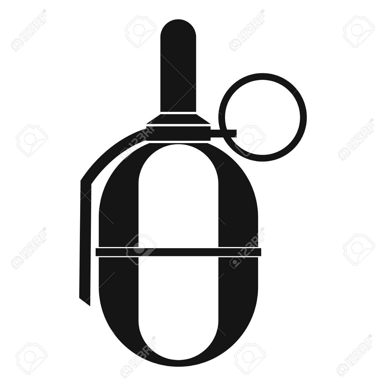 hand paintball grenade icon in simple style on a white background rh 123rf com grenade vector images
