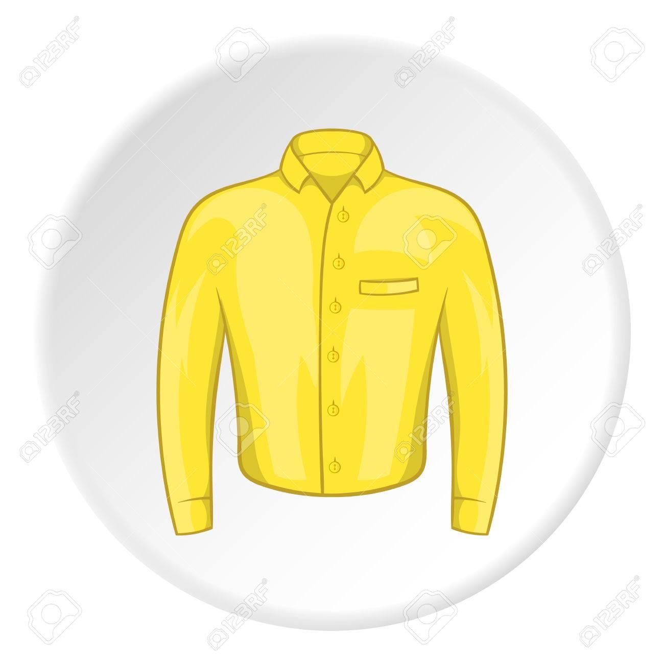 efe7459e766f9 Hombres amarillos camisa icono ilustración de dibujos animados jpg  1300x1300 Camisa animado