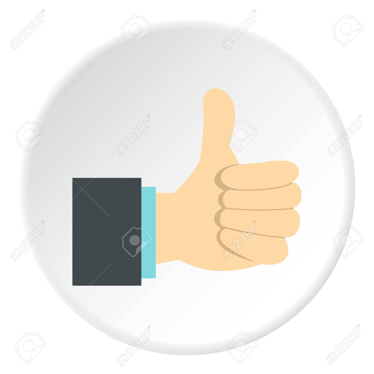 gesture approval icon flat illustration of gesture approval