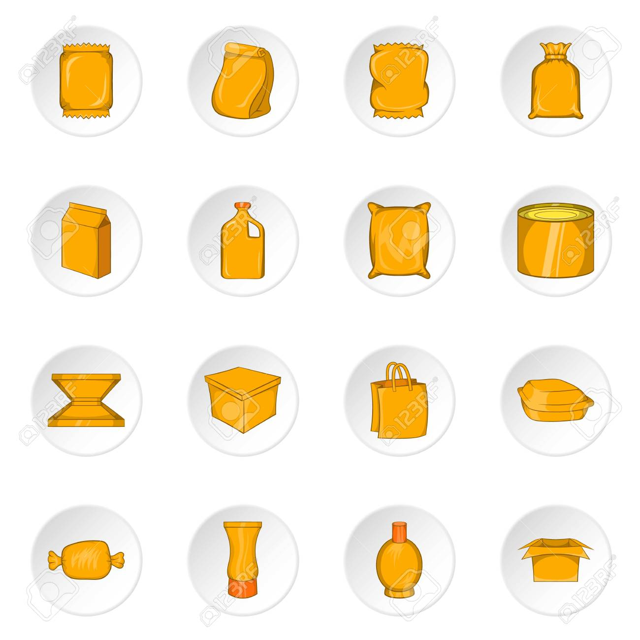 packaging icons set cartoon illustration of 16 packaging vector rh 123rf com vector packaging hasselt vector packaging inc