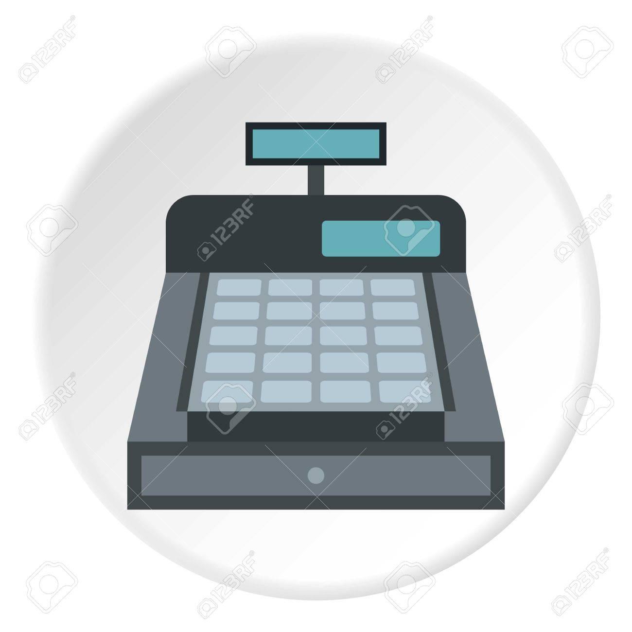 Cash register icon. Flat illustration of cash register vector icon for web design - 64095955