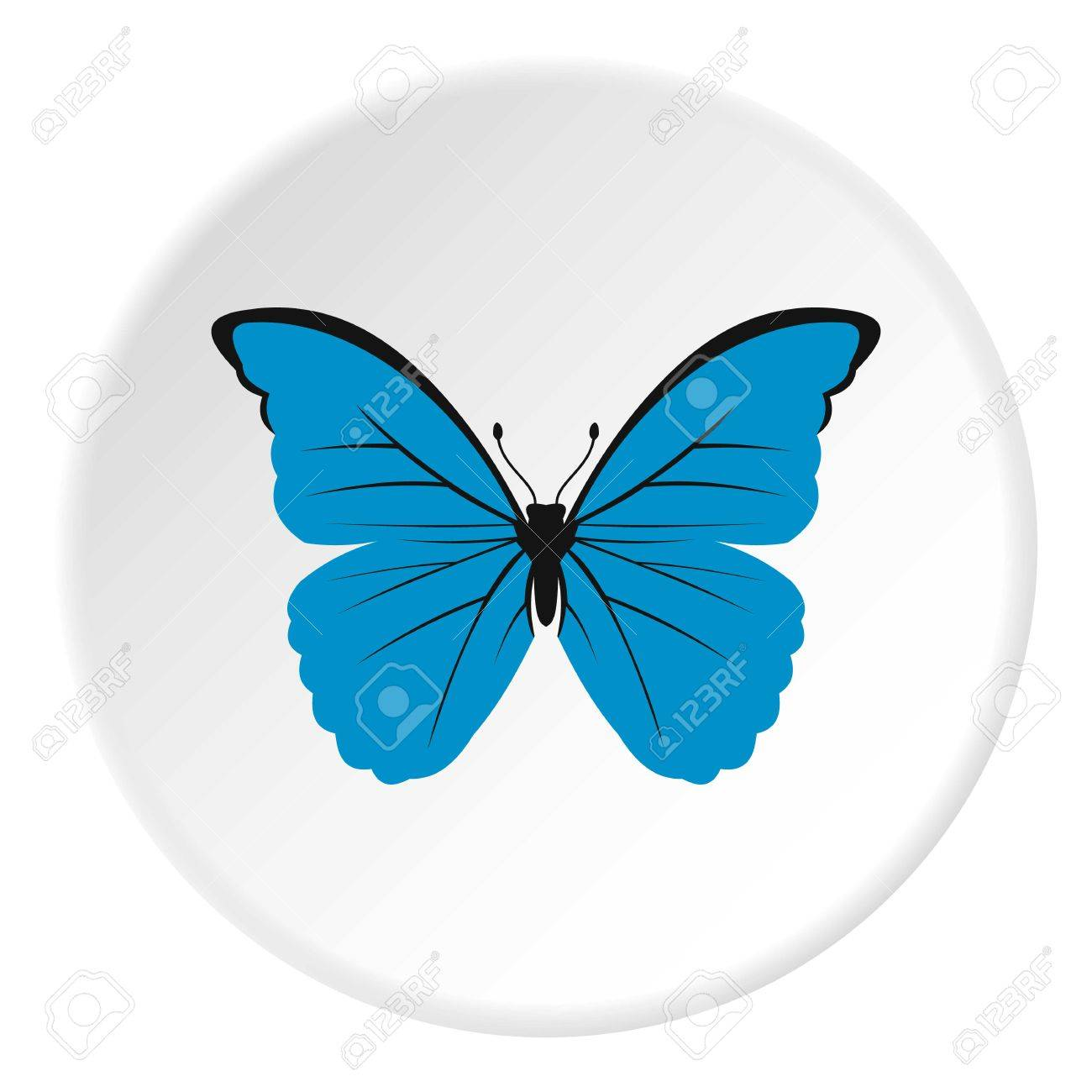 blue butterfly icon flat illustration of butterfly vector icon rh 123rf com blue butterfly vector blue butterfly vector