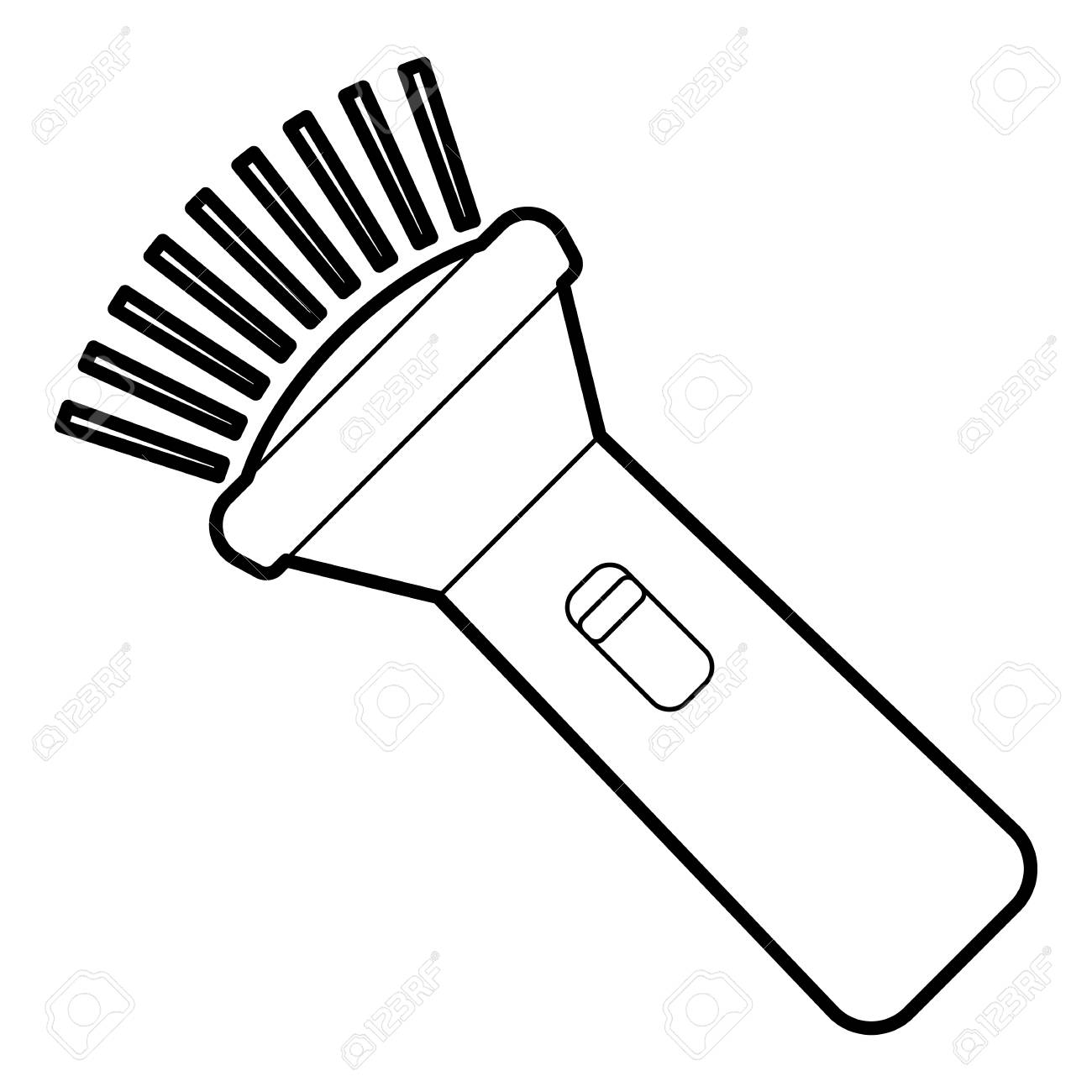Burning Flashlight Icon. Outline Illustration Of Burning Flashlight ... for Battery Torch Clipart  45ifm