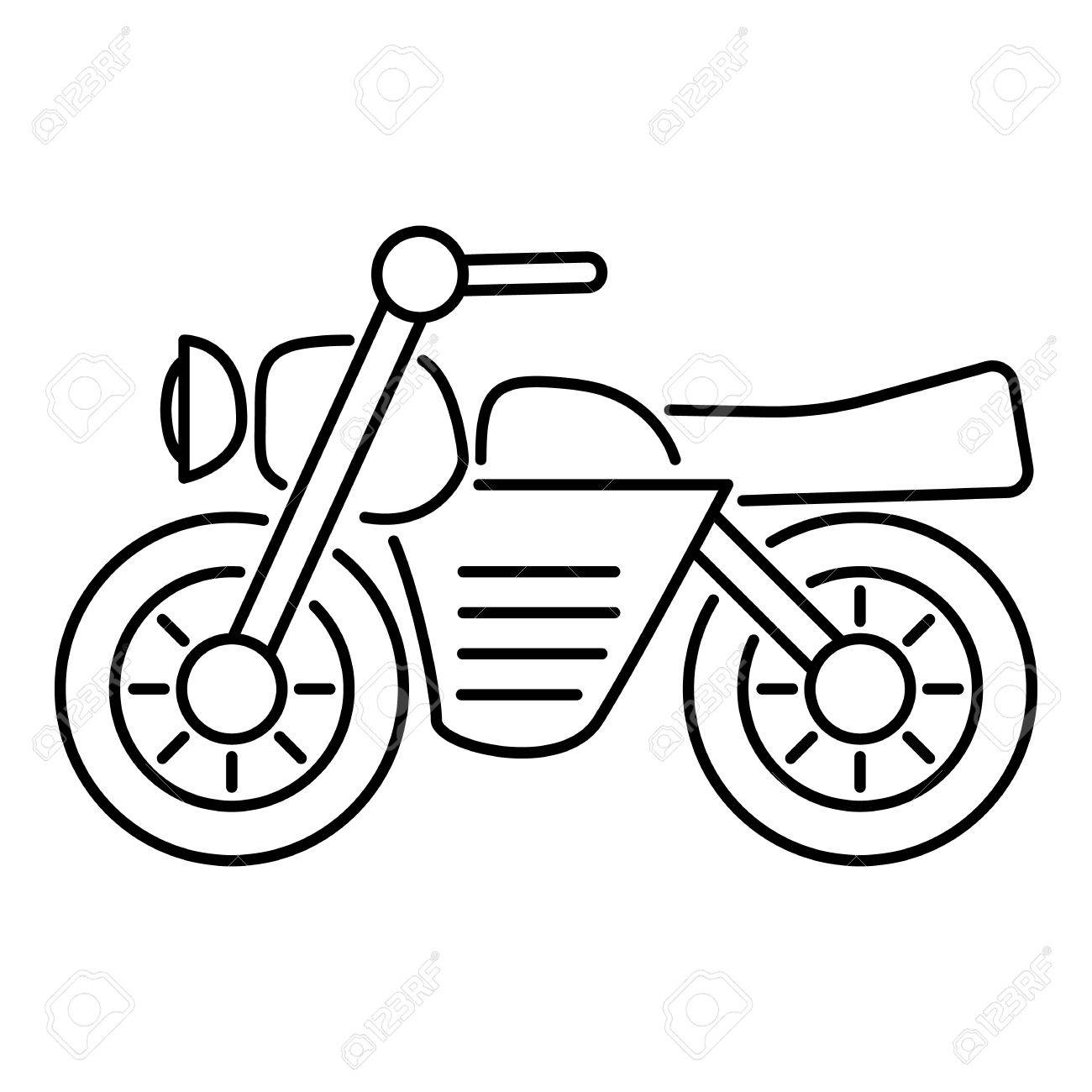 motorbike outline clipart  Motorcycle Icon. Outline Illustration Of Motorcycle Vector Icon ...