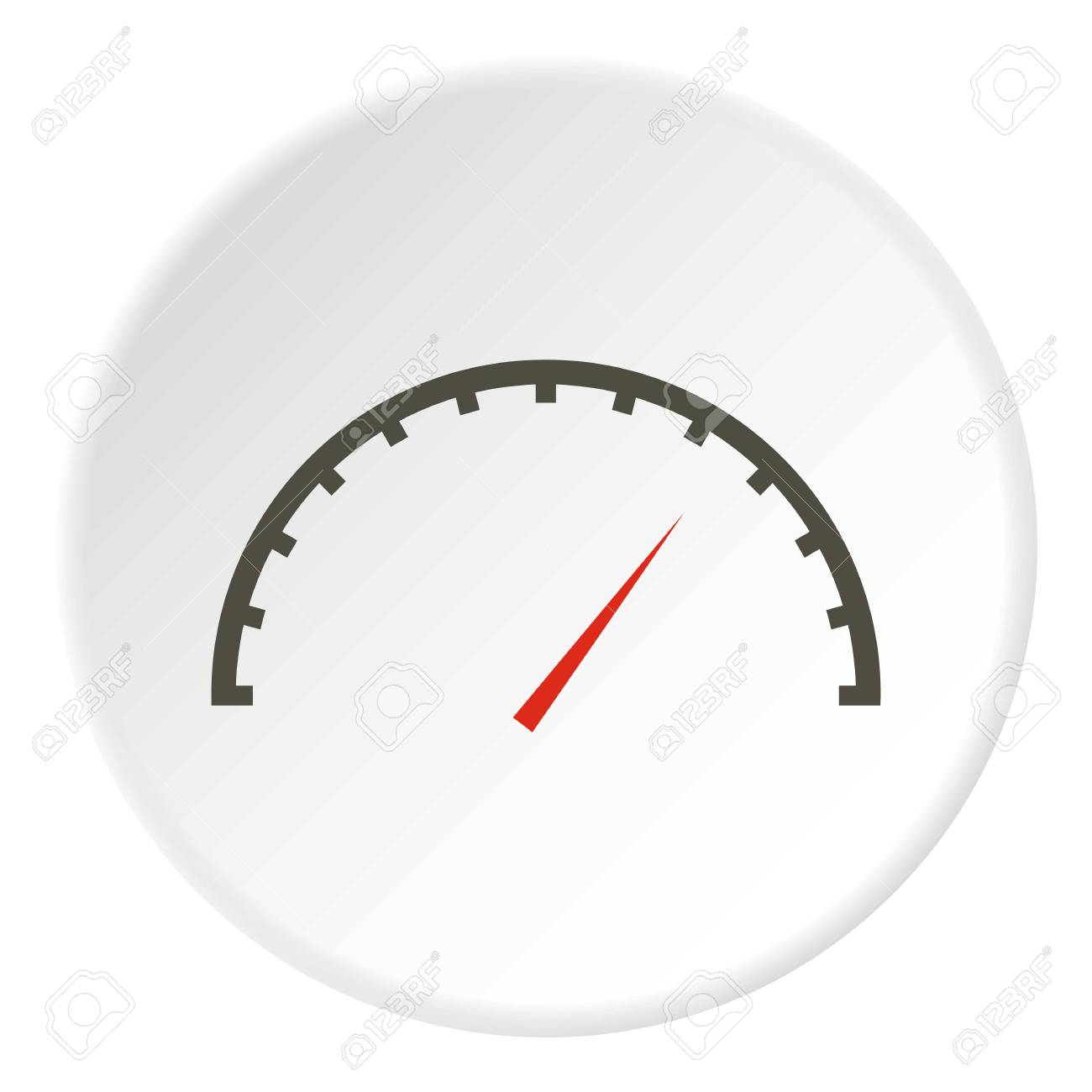Factory Speedometer Icon Flat Illustration Of Factory Speedometer