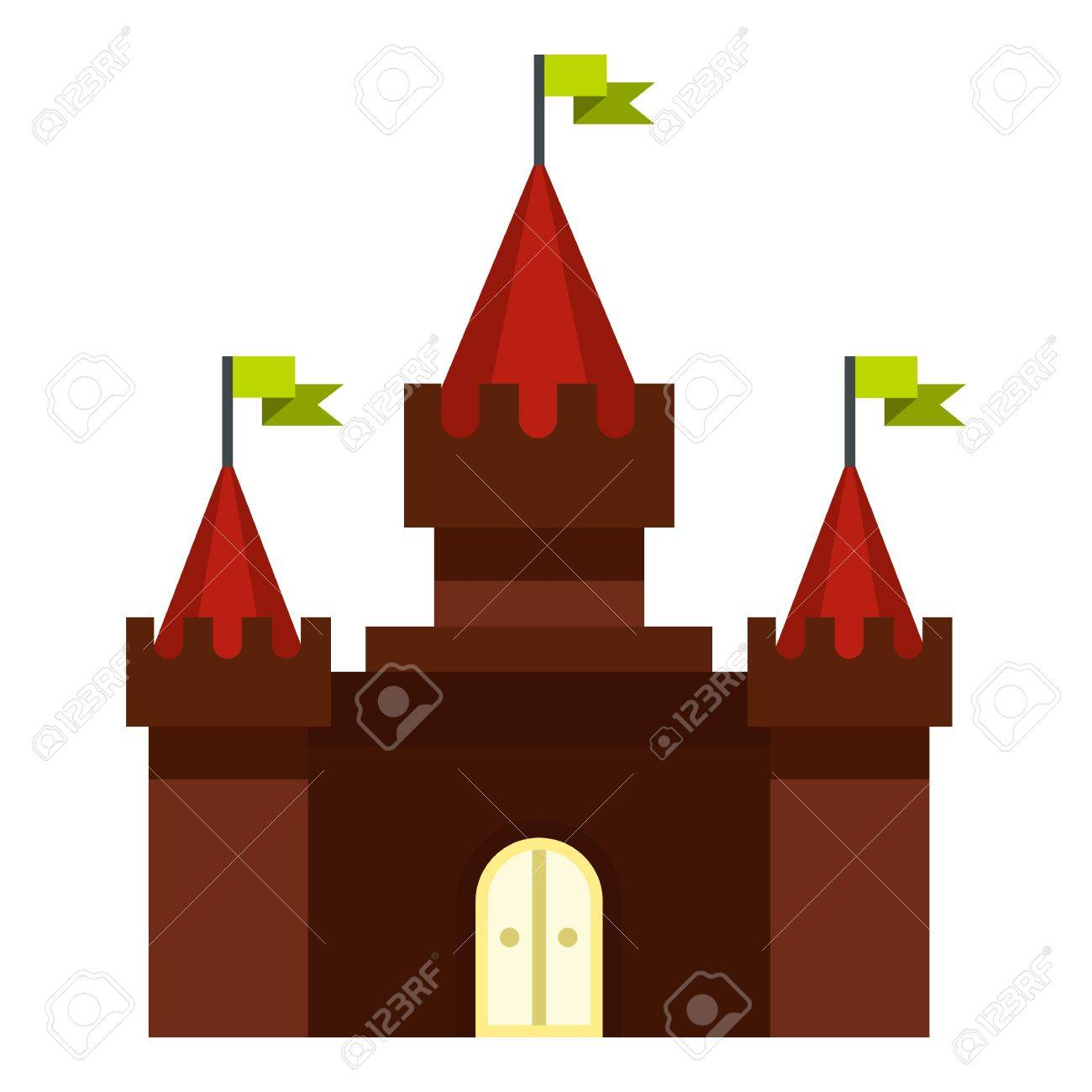 medieval castle icon flat illustration of castle vector icon for web design stock vector