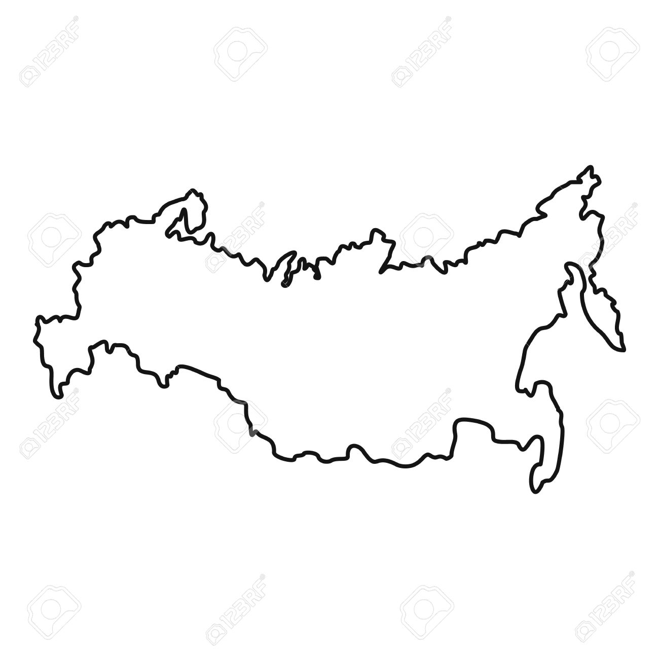 Russia Map Icon Outline Illustration Of Russia Map Vector Icon