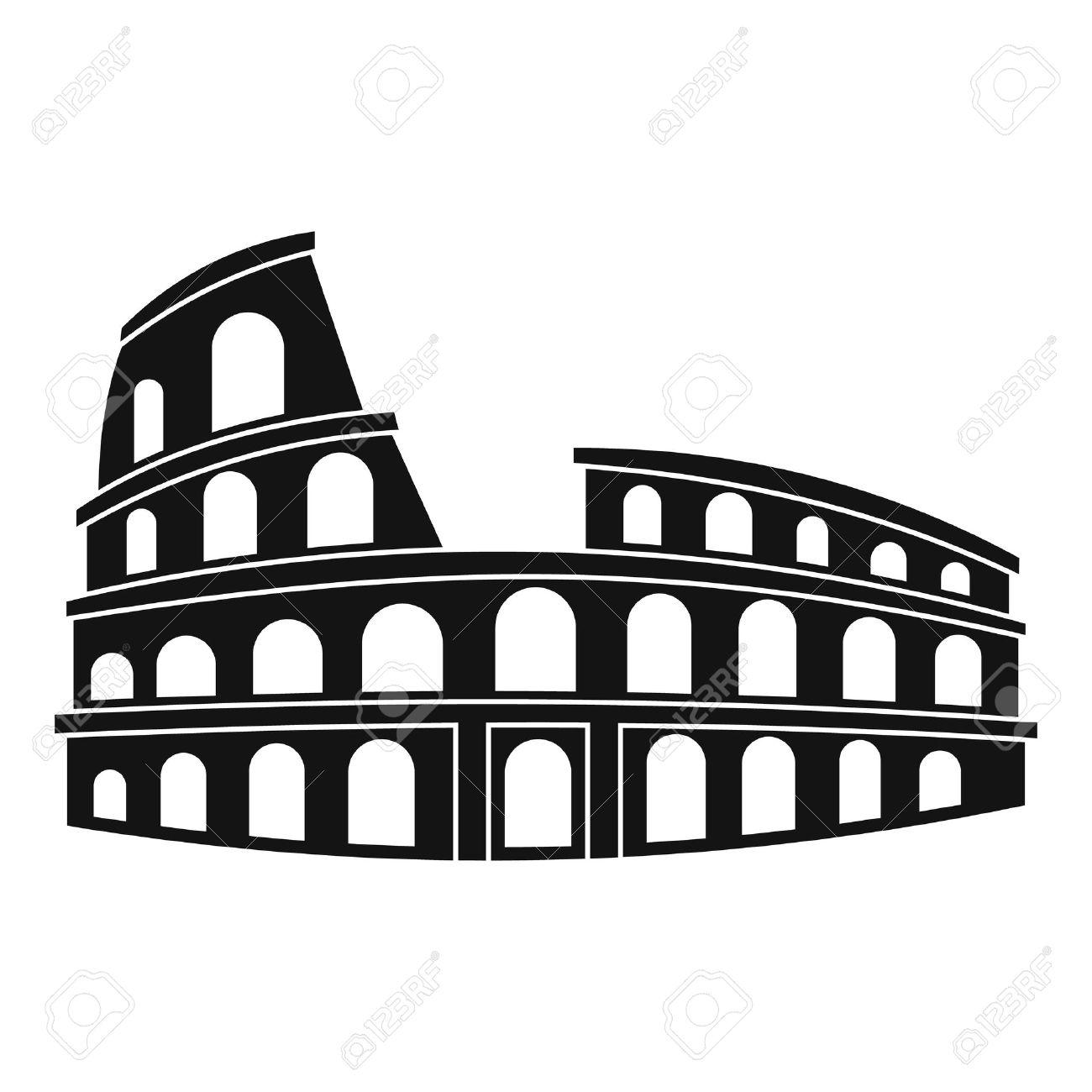 roman colosseum icon simple illustration of colosseum vector rh 123rf com