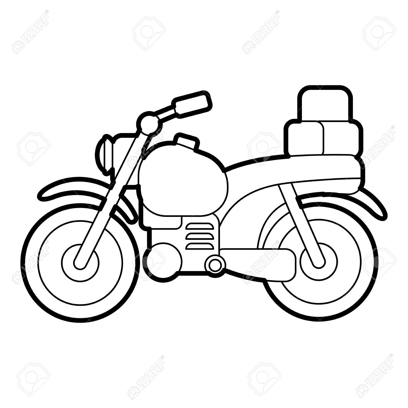 Motorcycle Icon Outline Illustration Of Motorcycle Vector Icon